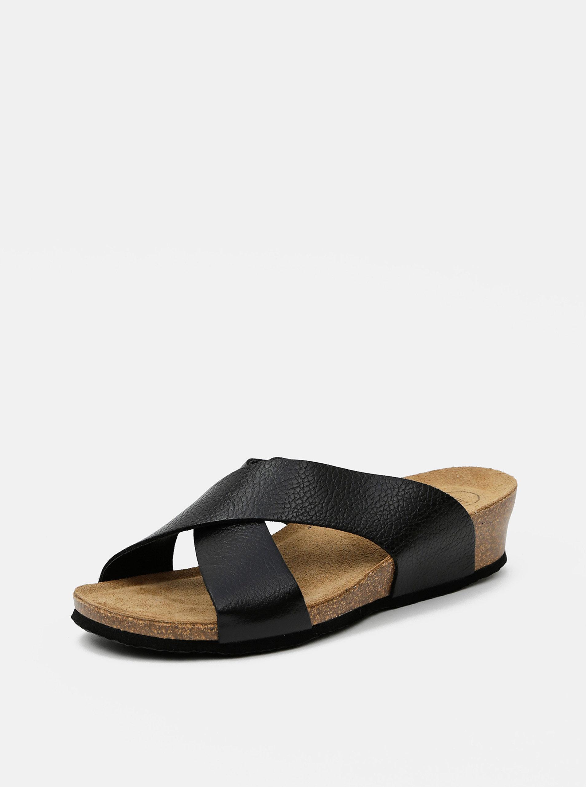 Černé dámské pantofle OJJU