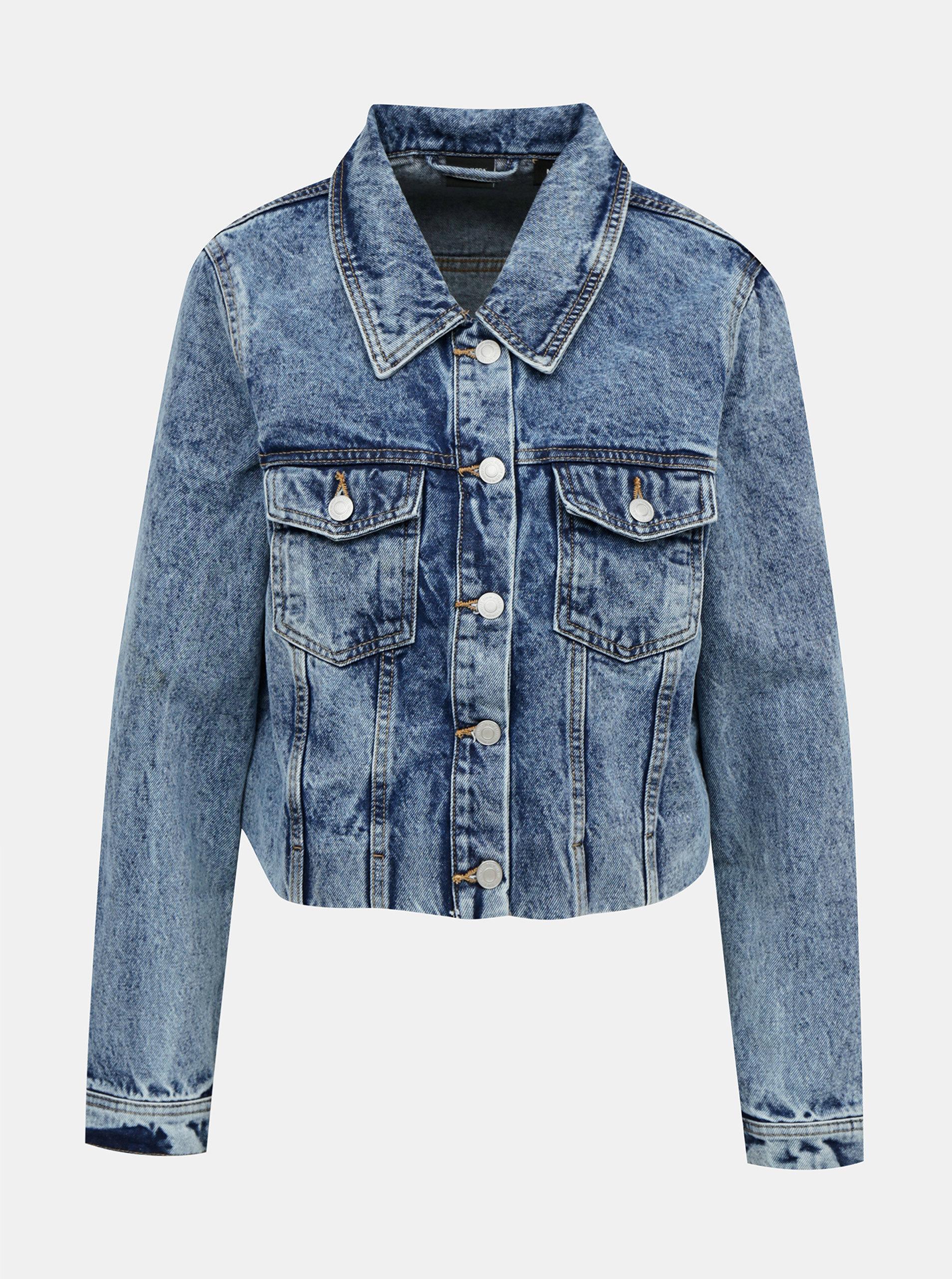 Modrá krátká džínová bunda VERO MODA Mikky