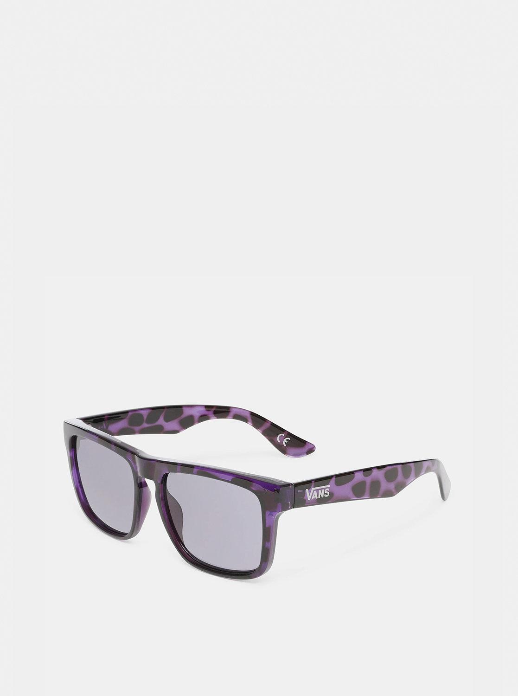 Fialovo-černé vzorované sluneční brýle VANS Squared