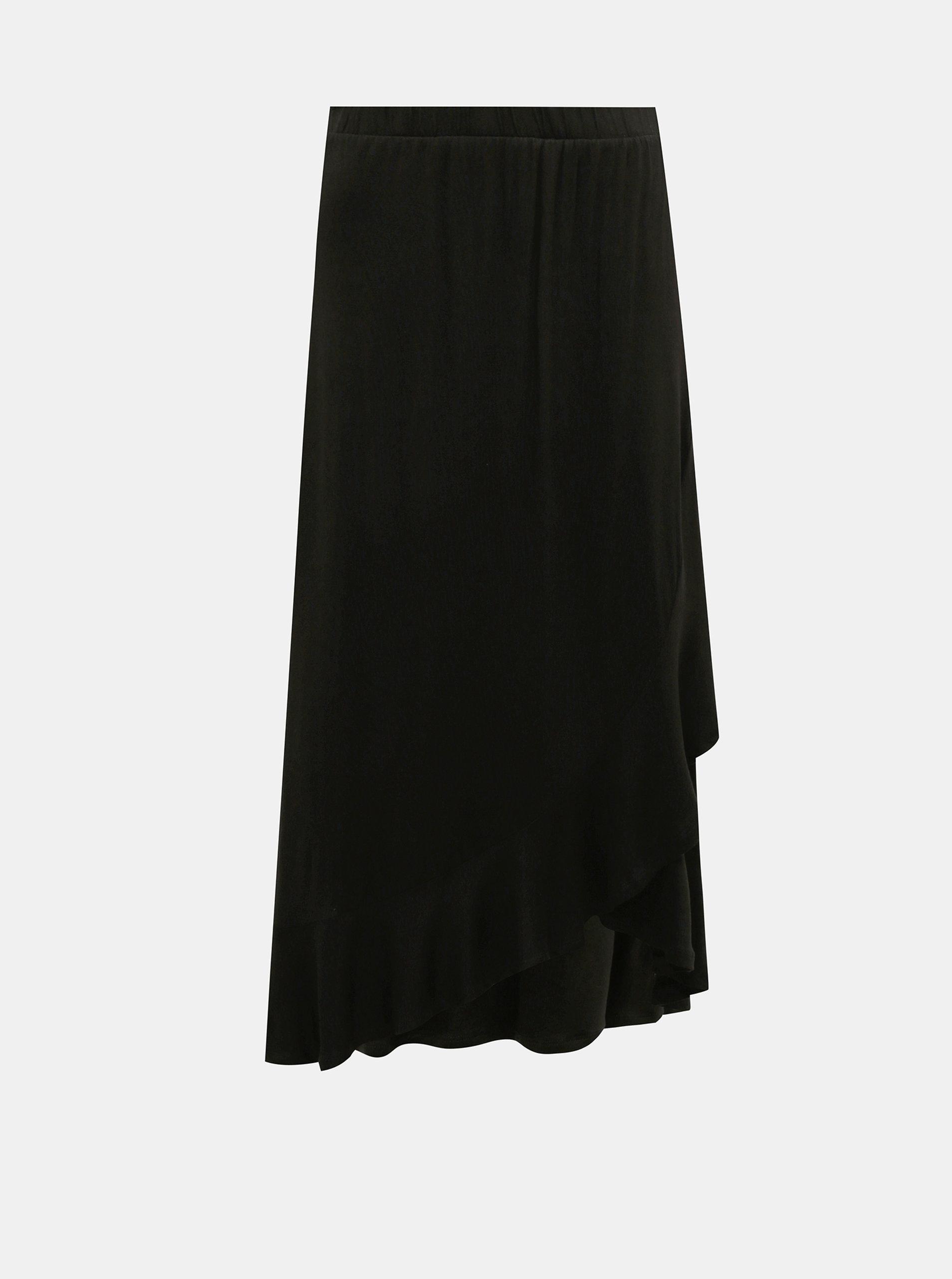 Černá zavinovací maxi sukně Jacqueline de Yong Fantorini
