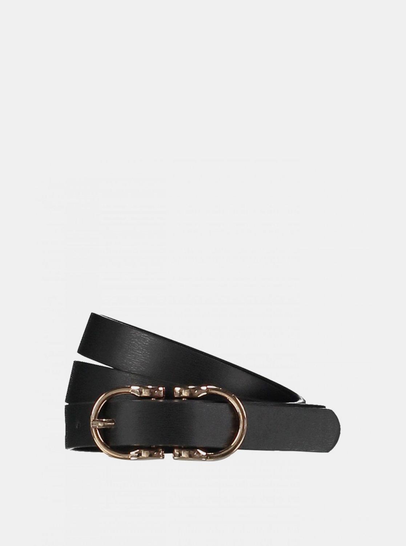 Černý kožený pásek Haily´s Zilly