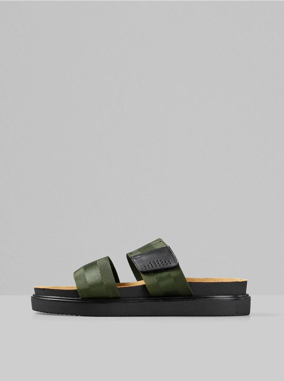 Tmavě zelené pánské pantofle Vagabond Seth