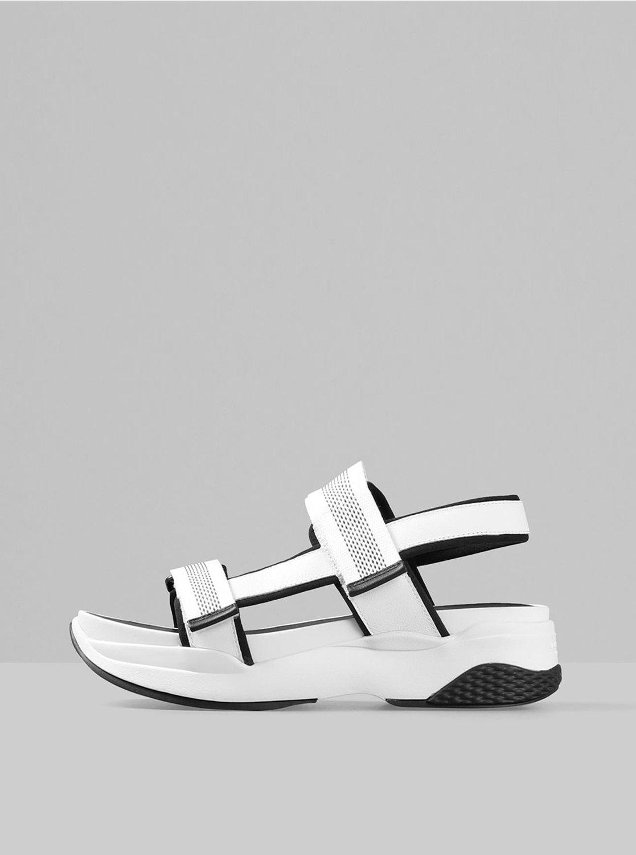Bílé dámské sandály na platformě Vagabond Lori