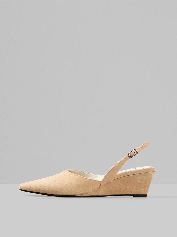 Béžové semišové sandálky na klínku Vagabond Erica