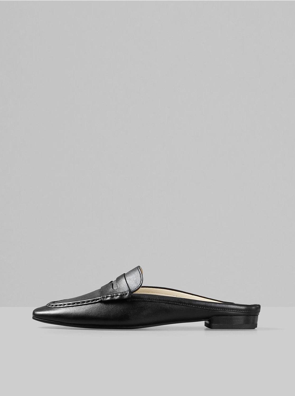 Černé dámské kožené pantofle Vagabond Cleo