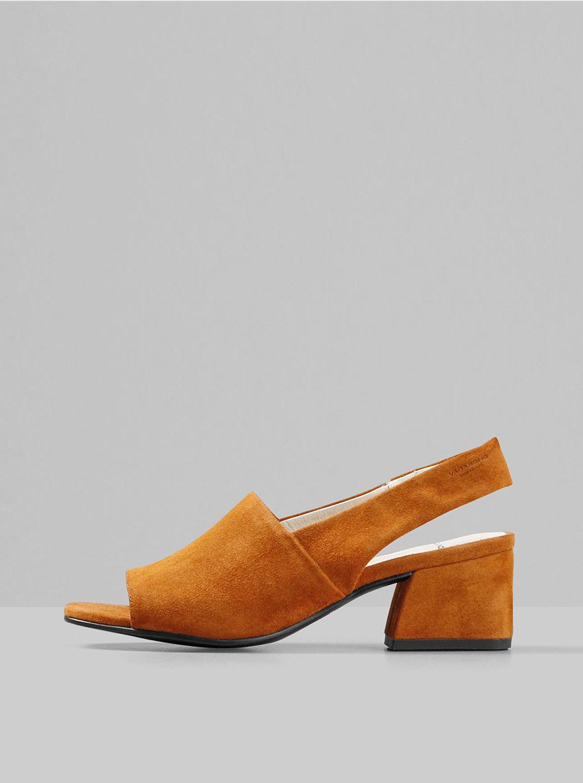 Hnědé semišové sandálky Vagabond Elena