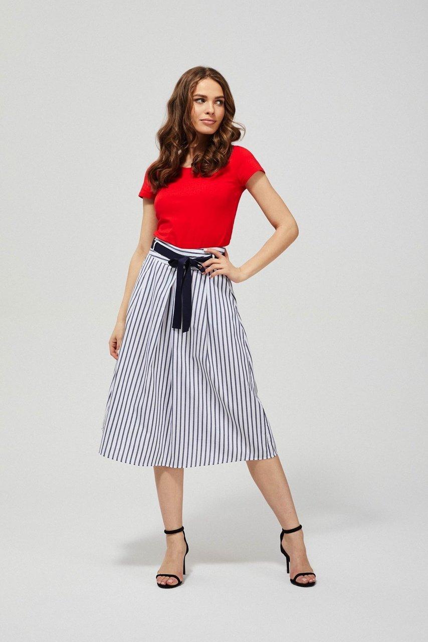 Moodo pruhovaná midi sukně