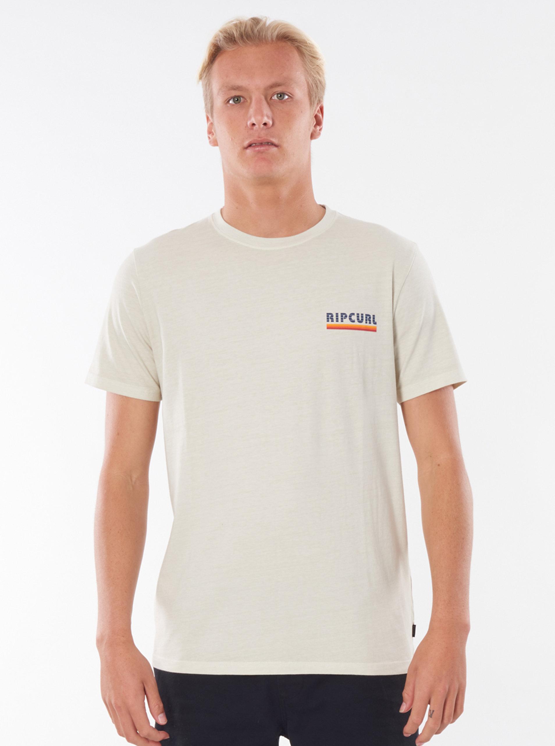 Krémové pánské tričko Rip Curl
