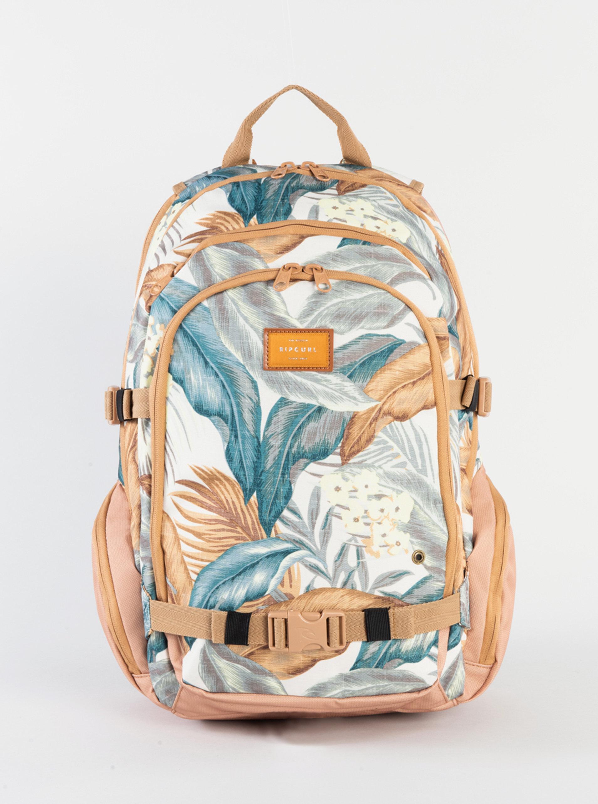 Krémovo-béžový vzorovaný batoh Rip Curl