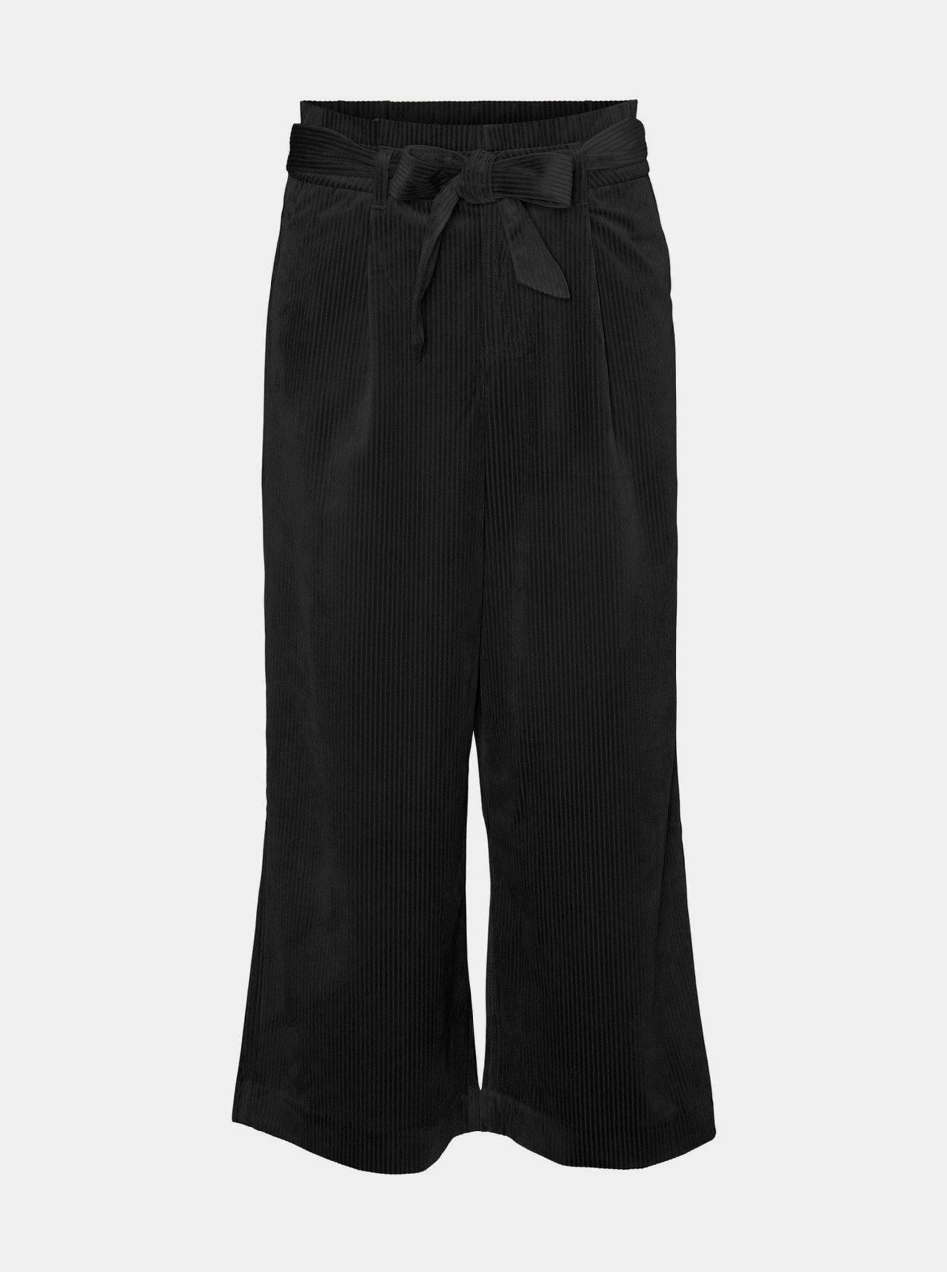 Černé manšestrové culottes VERO MODA Londyn