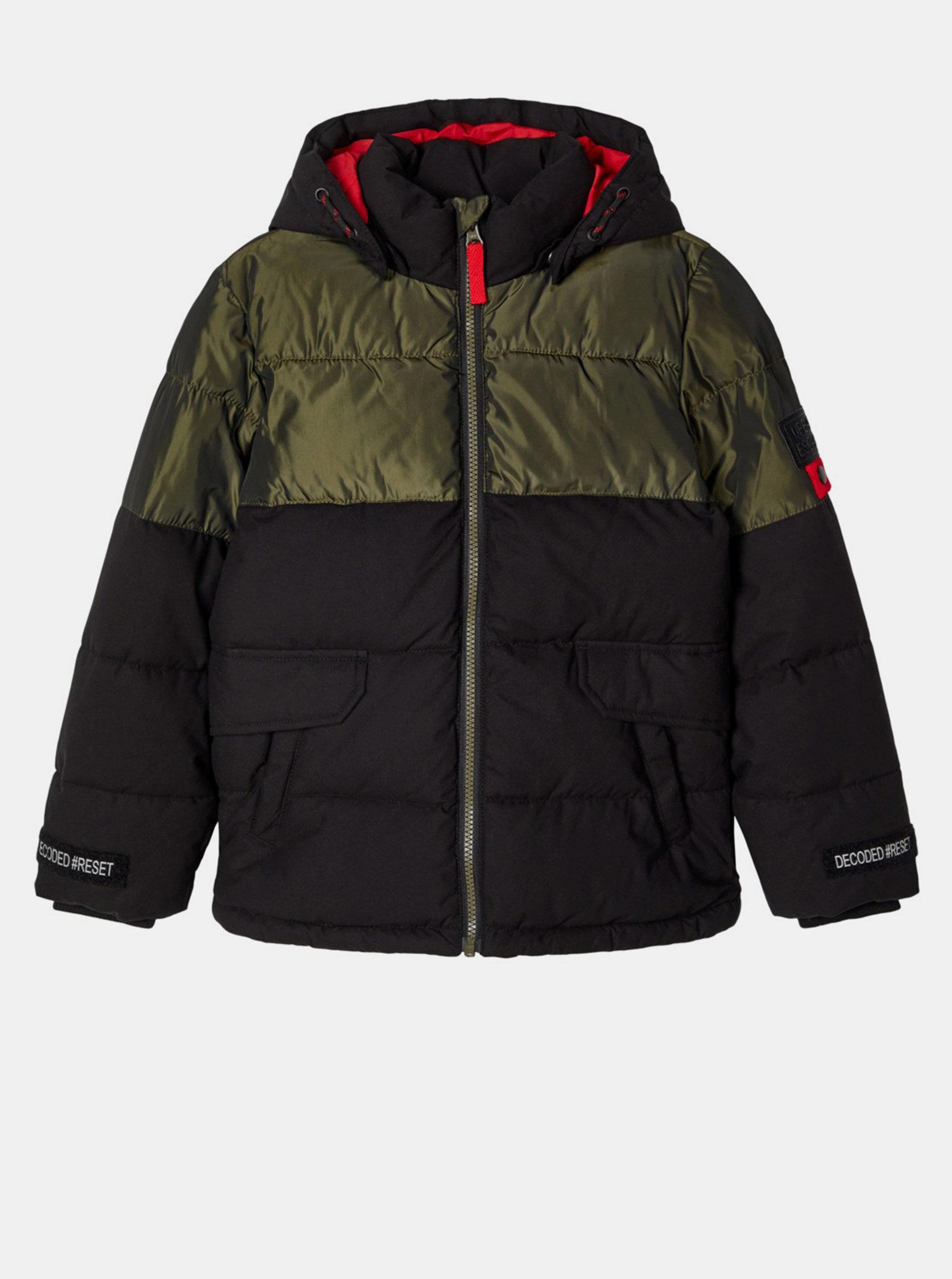 Čierna chlapčenská zimná bunda name it Manker