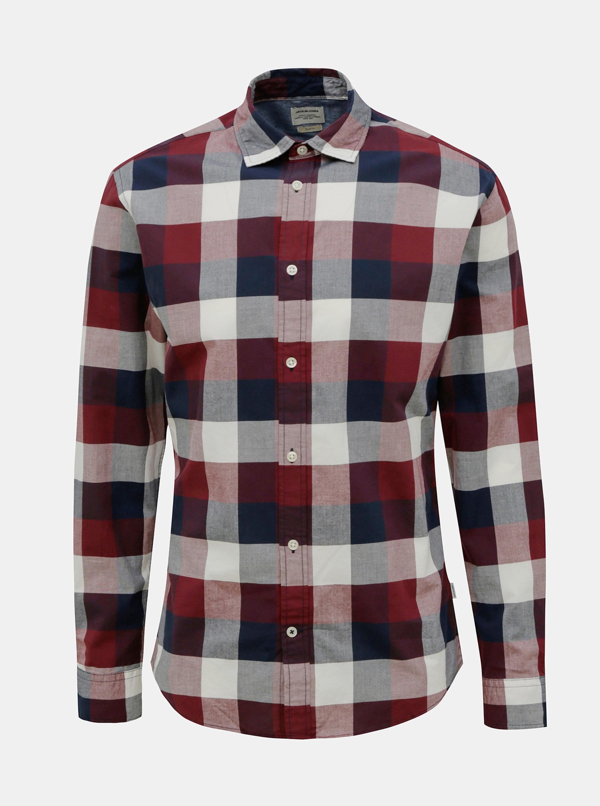 Červeno-modrá kockovaná košeľa Jack & Jones Eplain