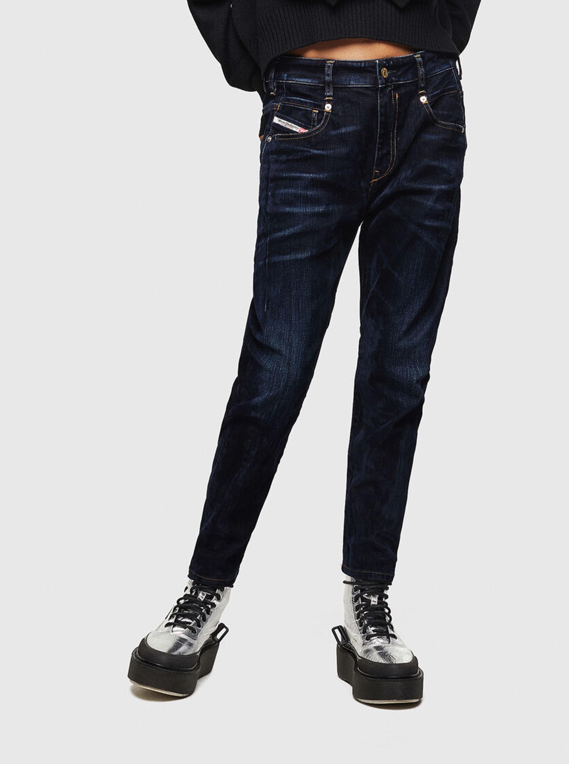 Tmavě modré dámské boyfriend džíny Diesel