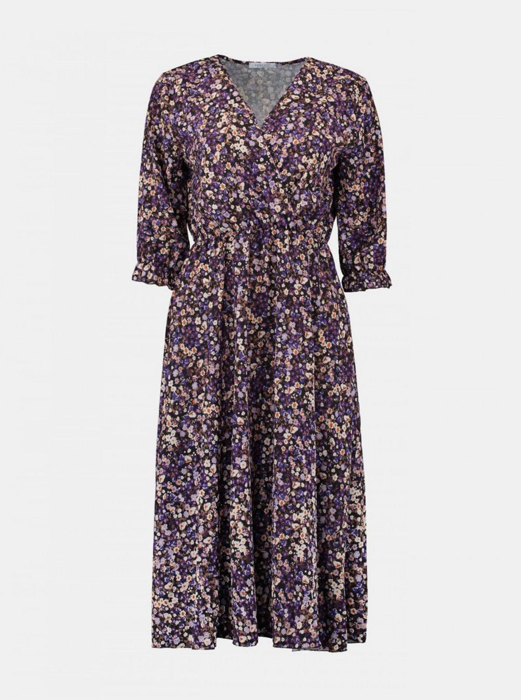 Fialové kvetované šaty Haily´s