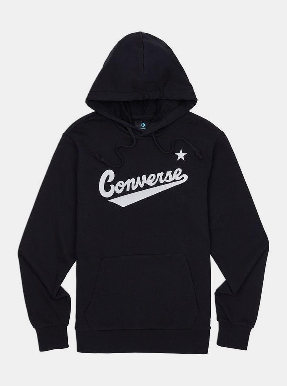 Čierna pánska mikina s kapucou Converse