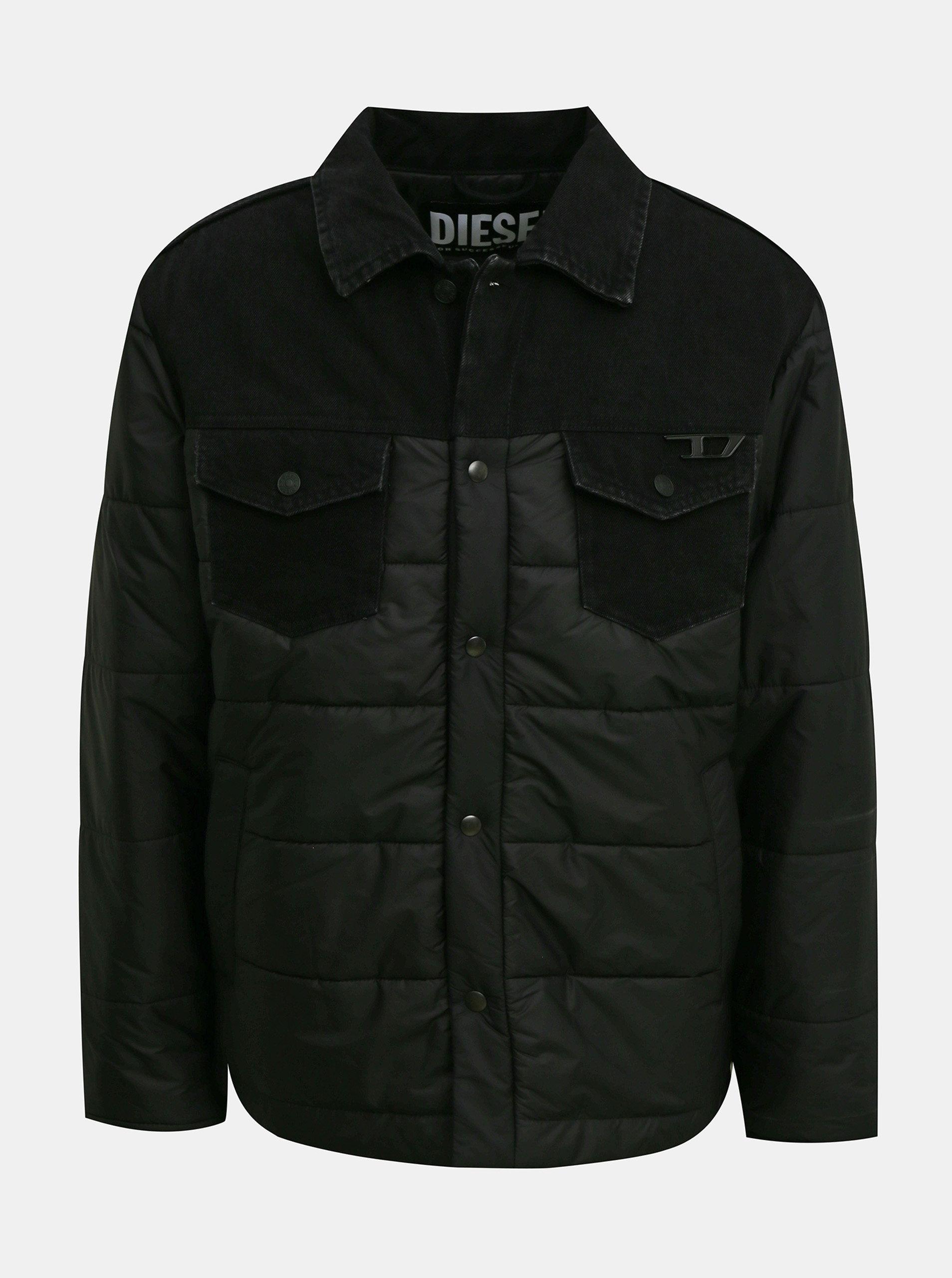Čierna pánska zimná bunda Diesel