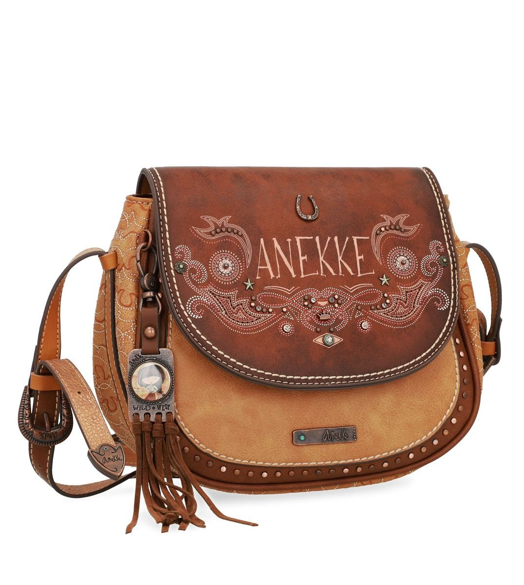 Anekke malá kabelka přes rameno Arizona s klopou