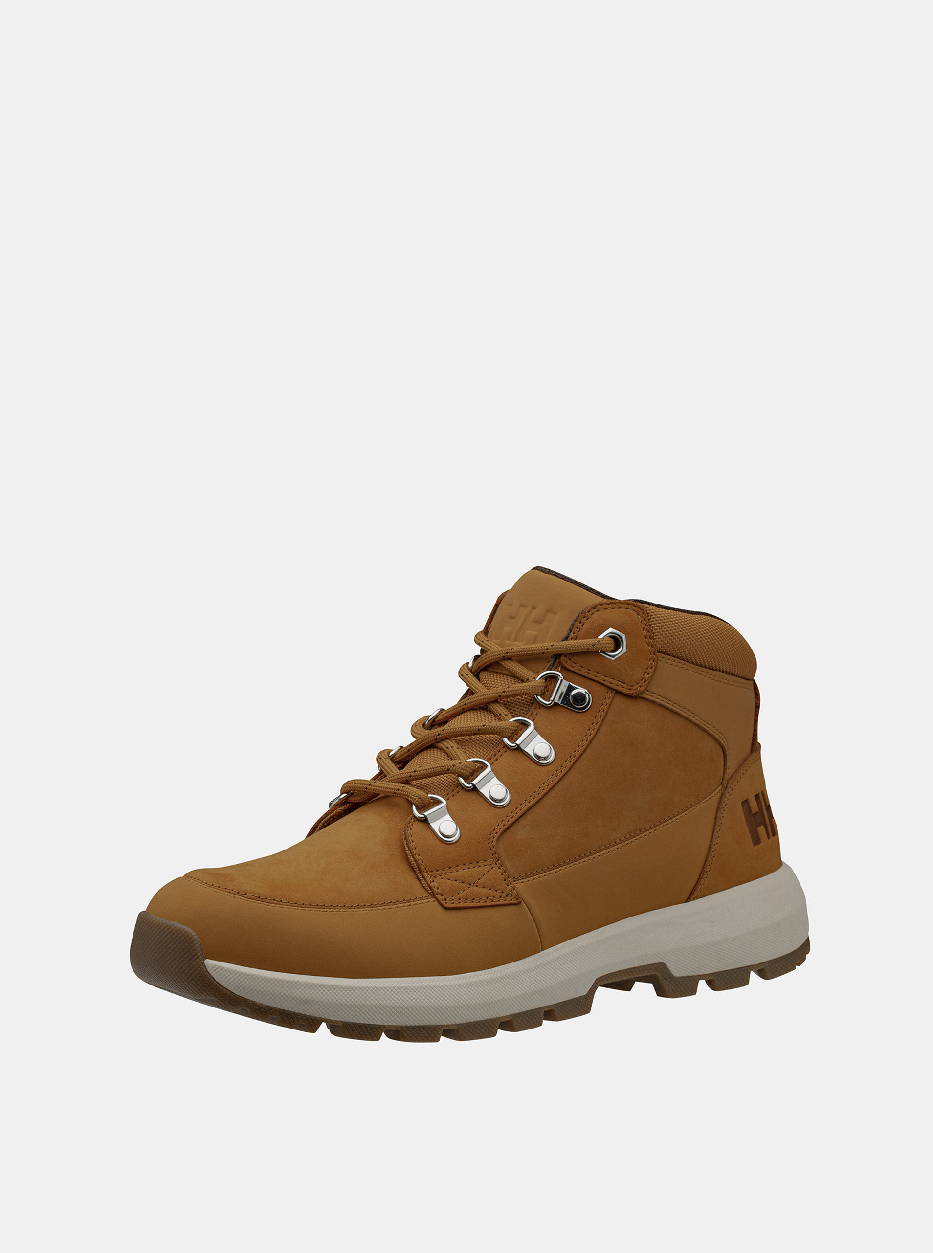 Hnedé pánske kožené vodeodolné topánky HELLY HANSEN