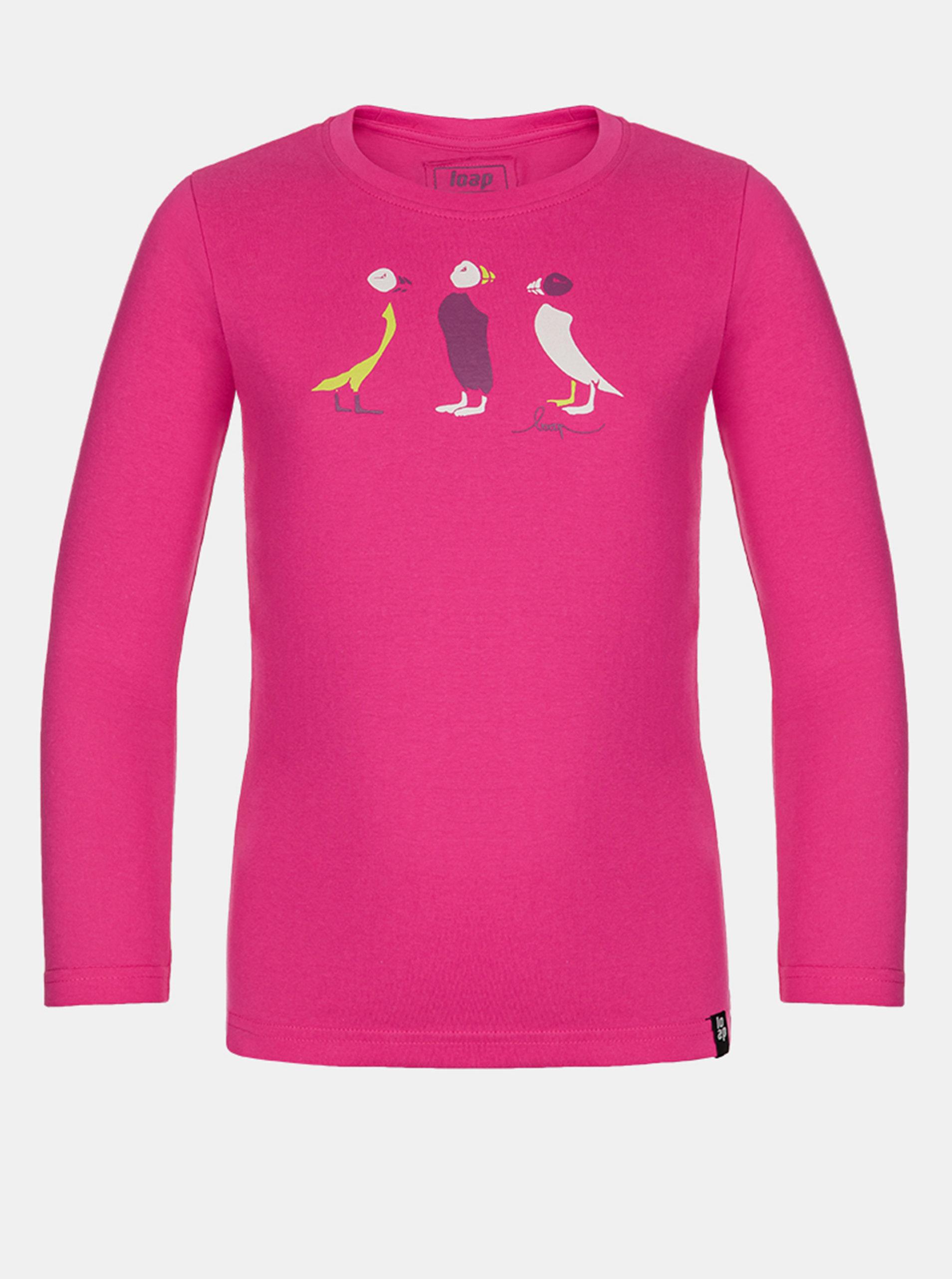 Ružové dievčenské tričko LOAP Balla