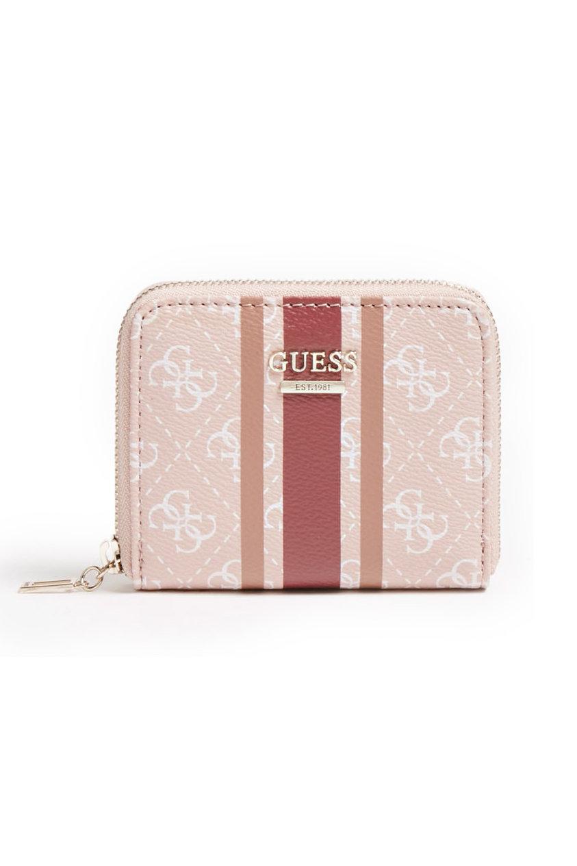 Guess pudrová malá peněženka Jensen 4G Logo Wallet