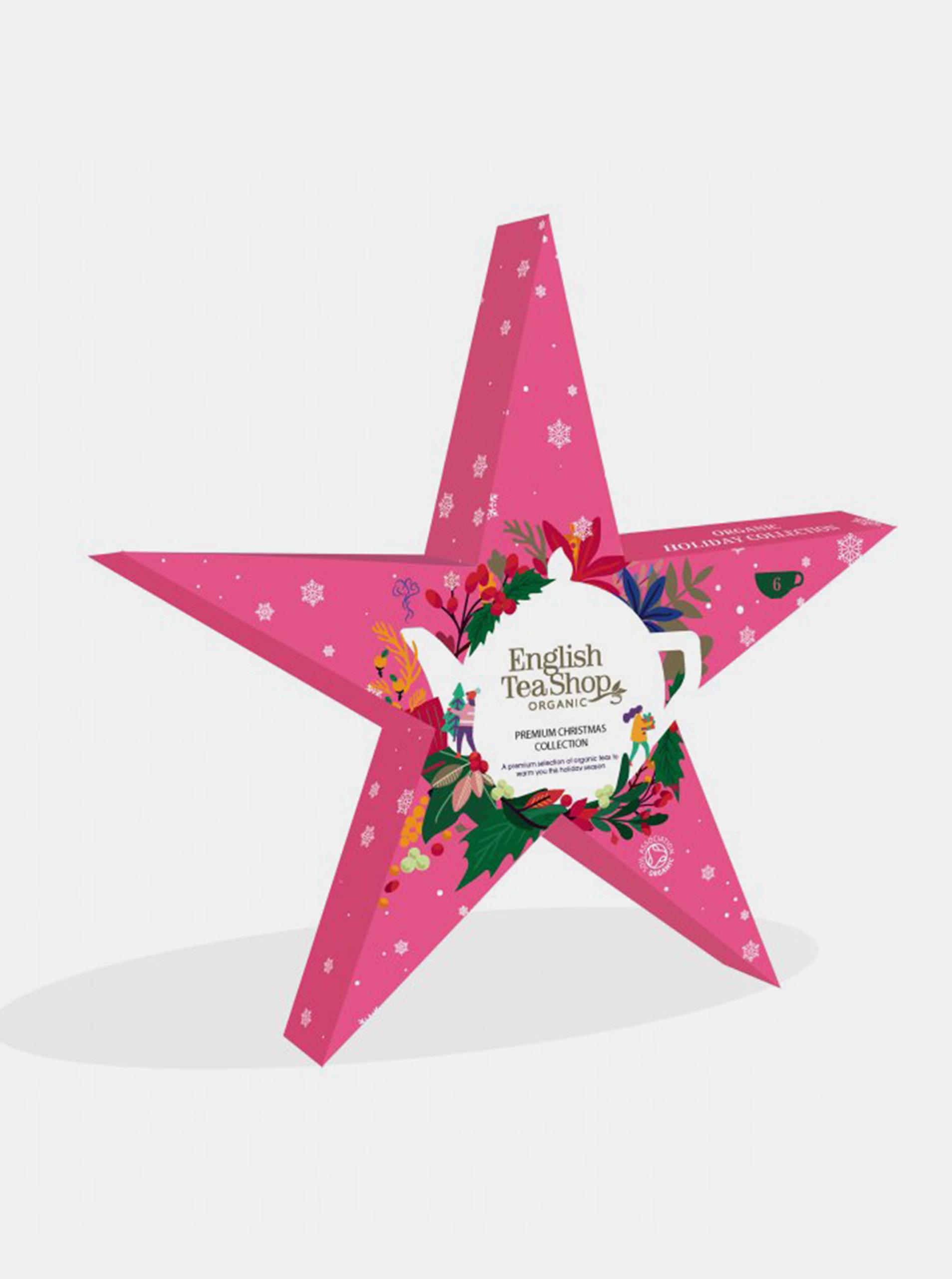 Růžová vánoční čajová kolekce English Tea Shop Hvězda