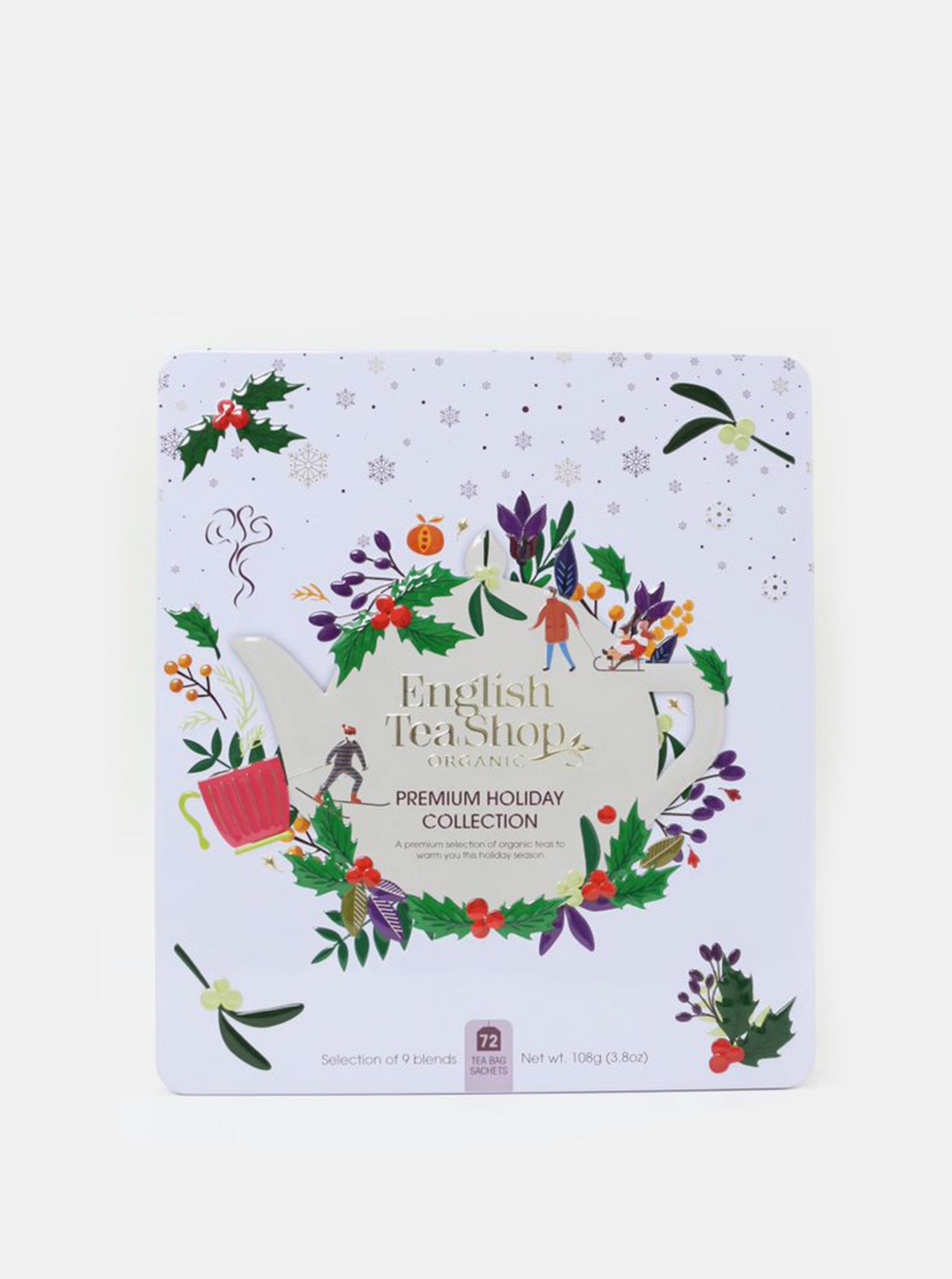 Bílá vánoční prémiová kolekce čajů English Tea Shop