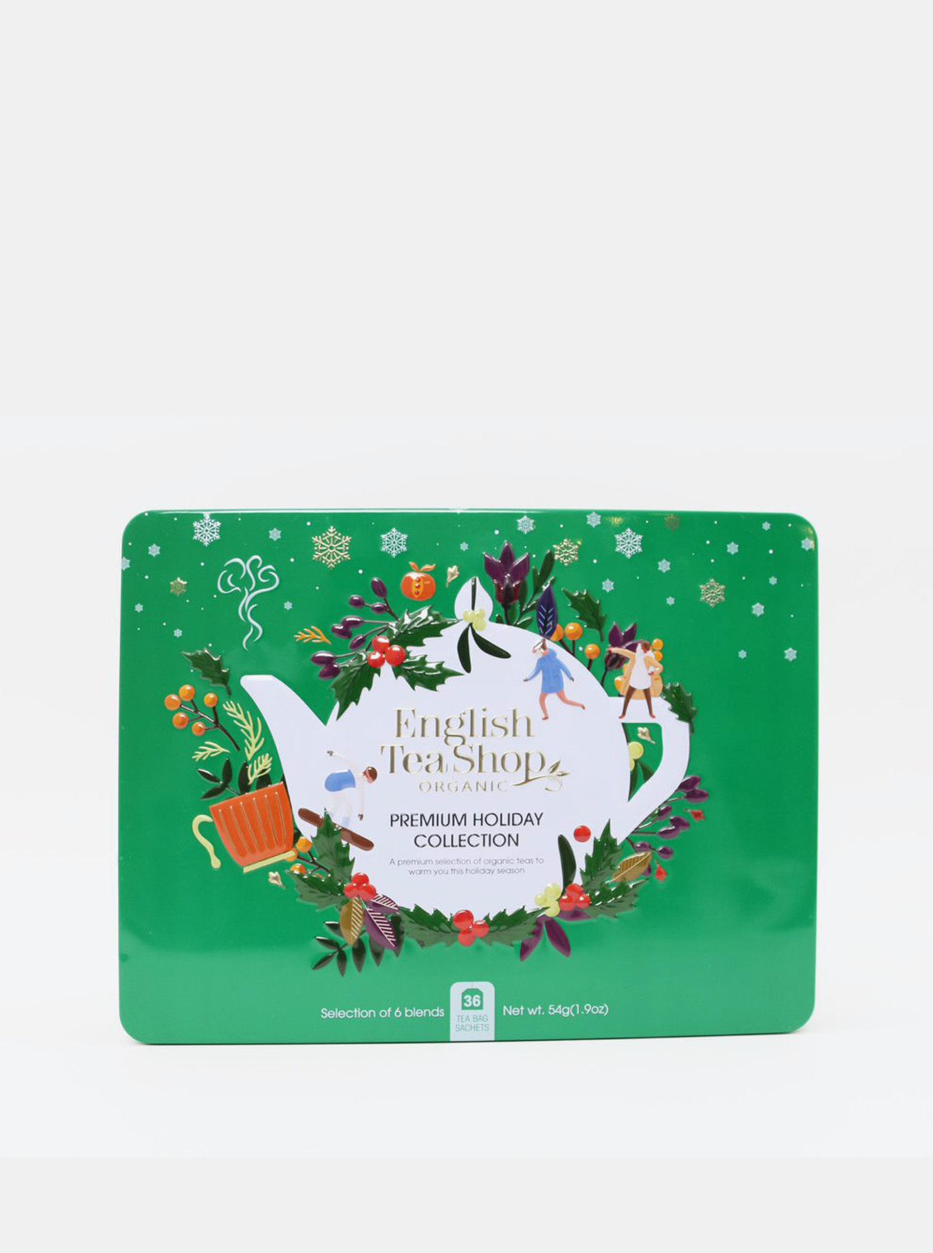 Zelená vánoční prémiová kolekce čajů English Tea Shop