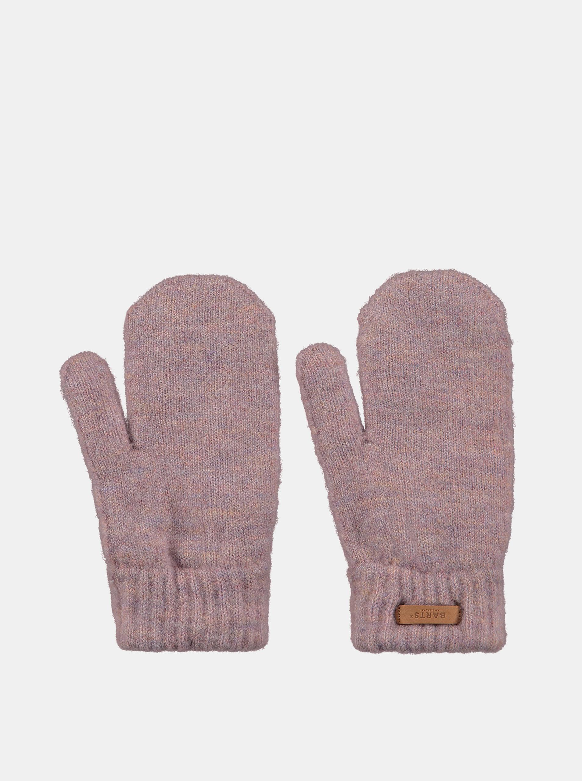 Růžové dámské rukavice Barts
