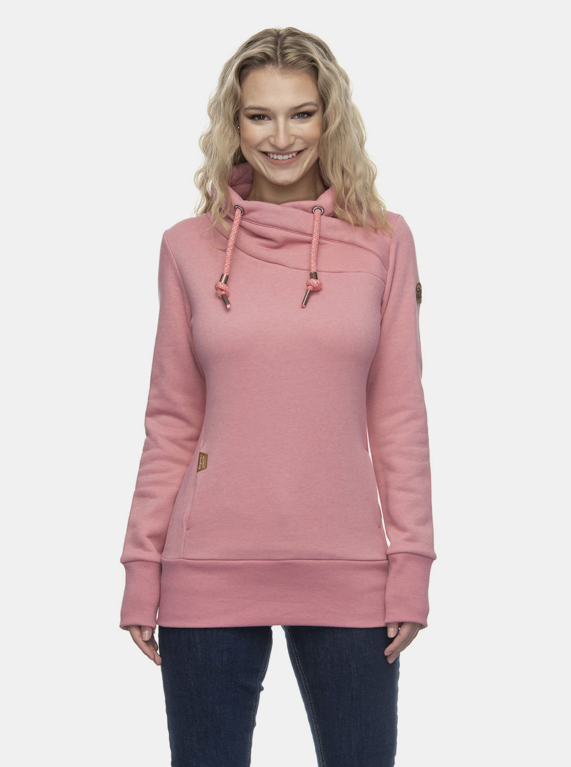 Růžová dámská mikina Ragwear