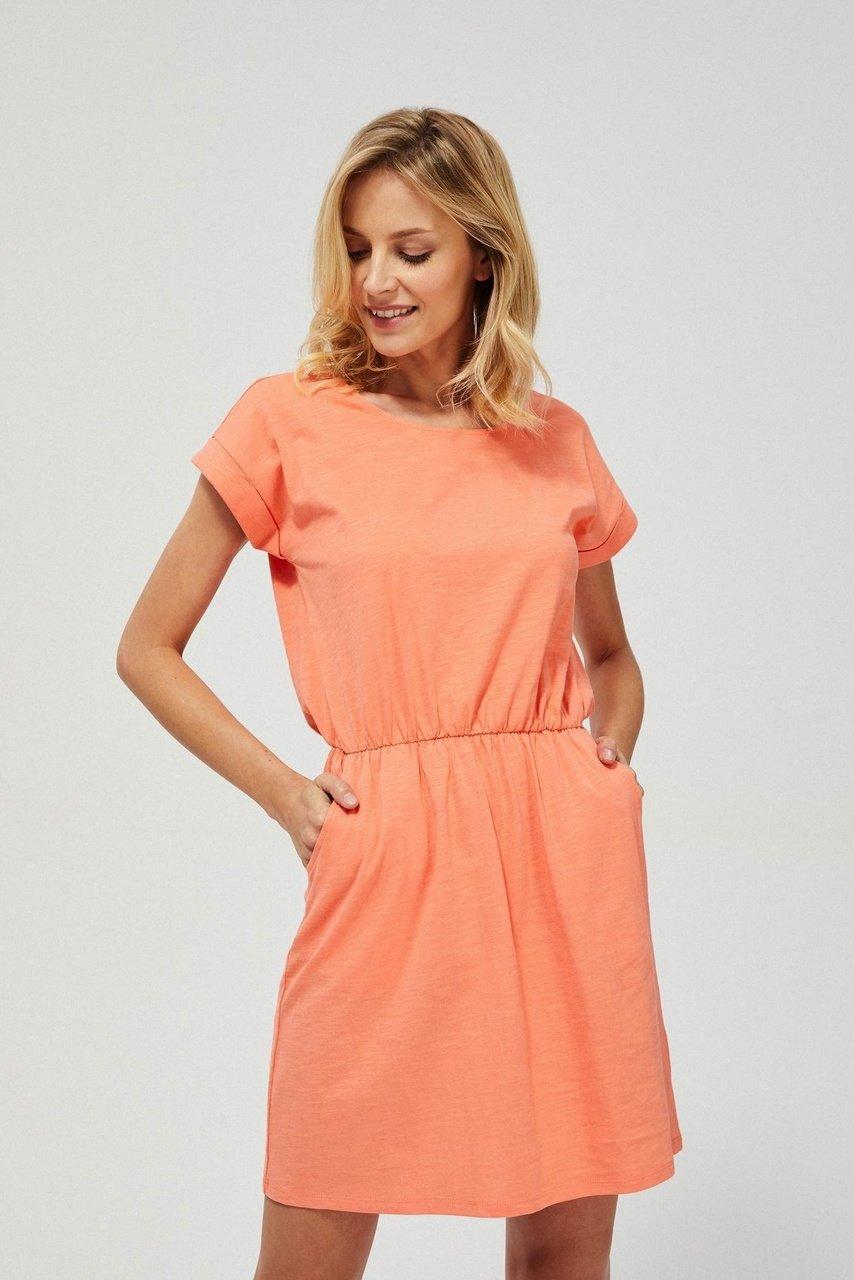 Moodo letní šaty v meruňkové barvě