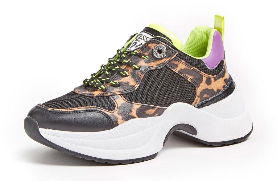 Guess leopardí tenisky Juless Faux Leather Animalier Runnig Shoe