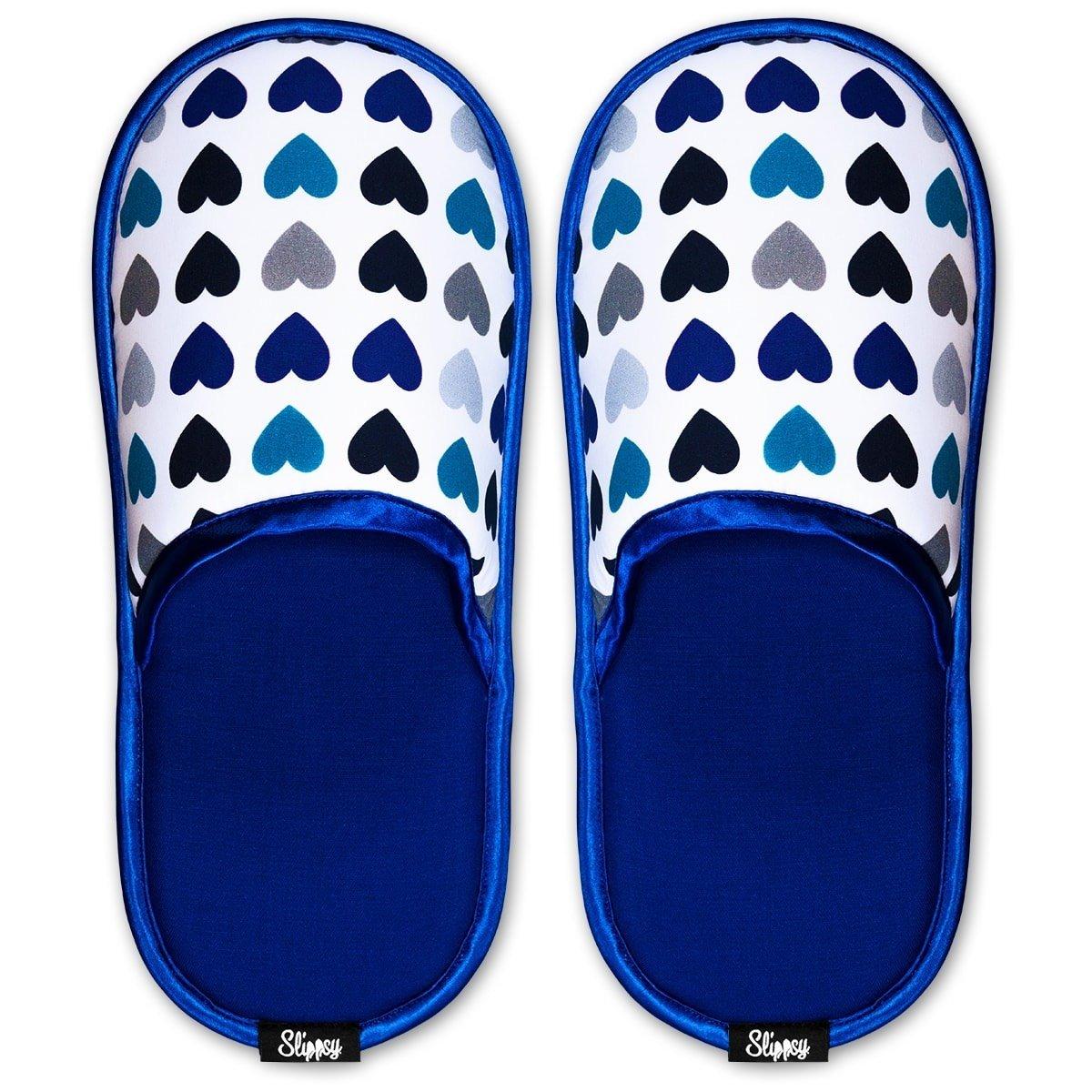 Slippsy bílo-modré unisex domácí pantofle Frozen Heart