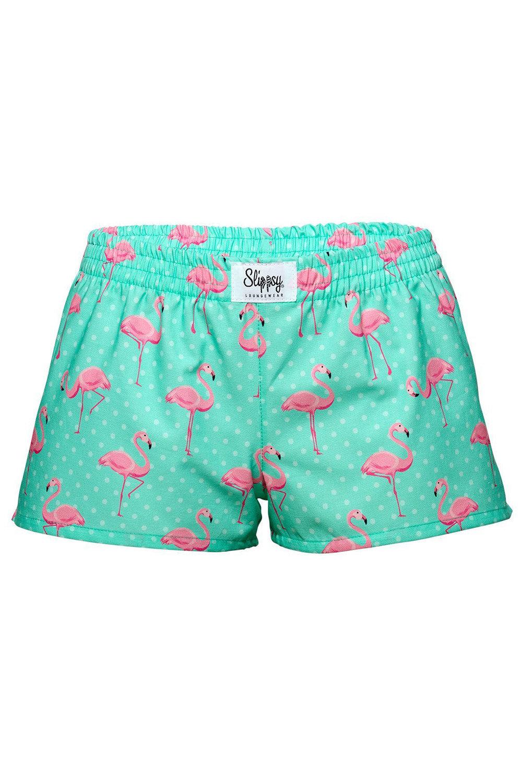 Slippsy tyrkysové dámské trenýrky Flamingo