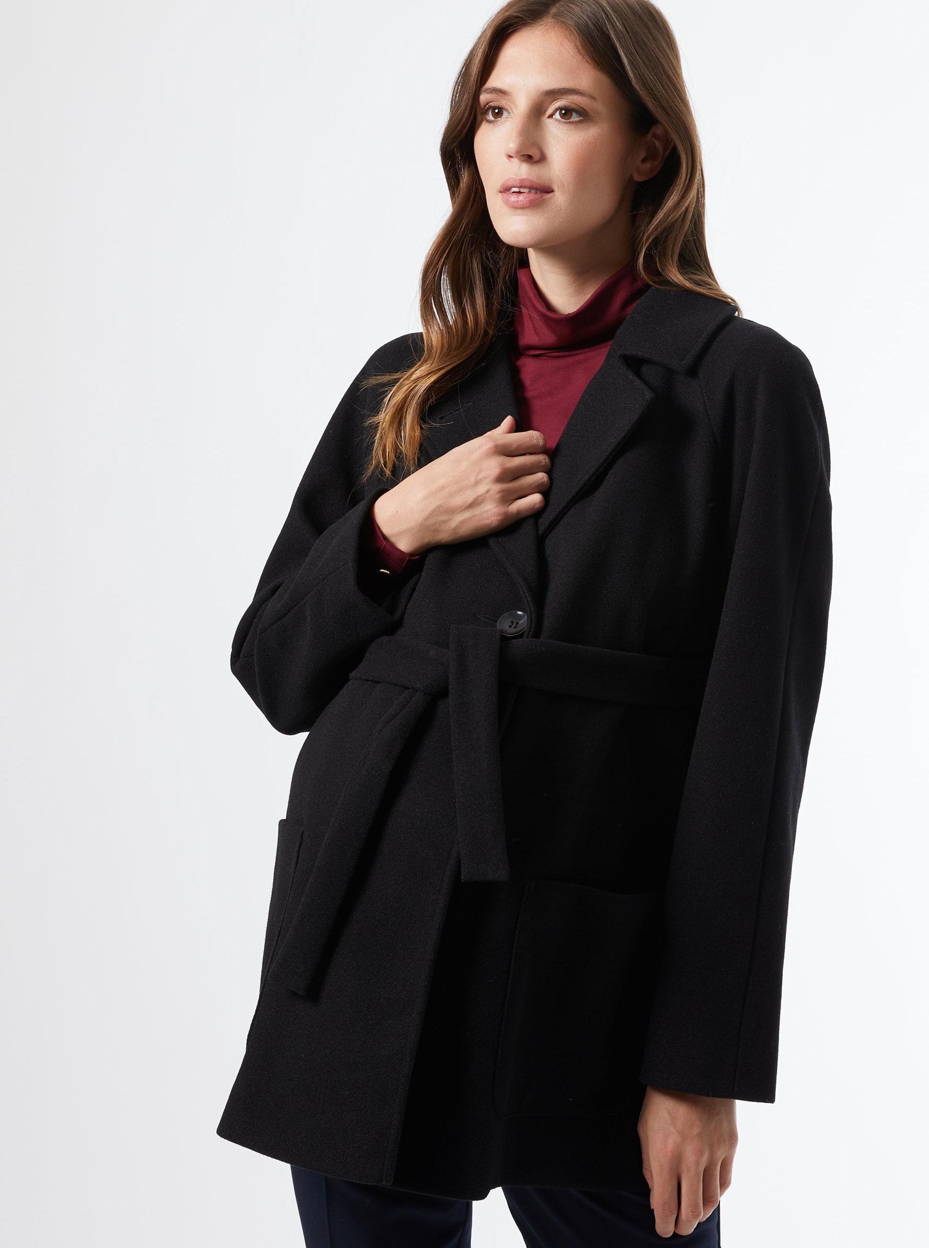Černý těhotenský krátký kabát Dorothy Perkins Maternity