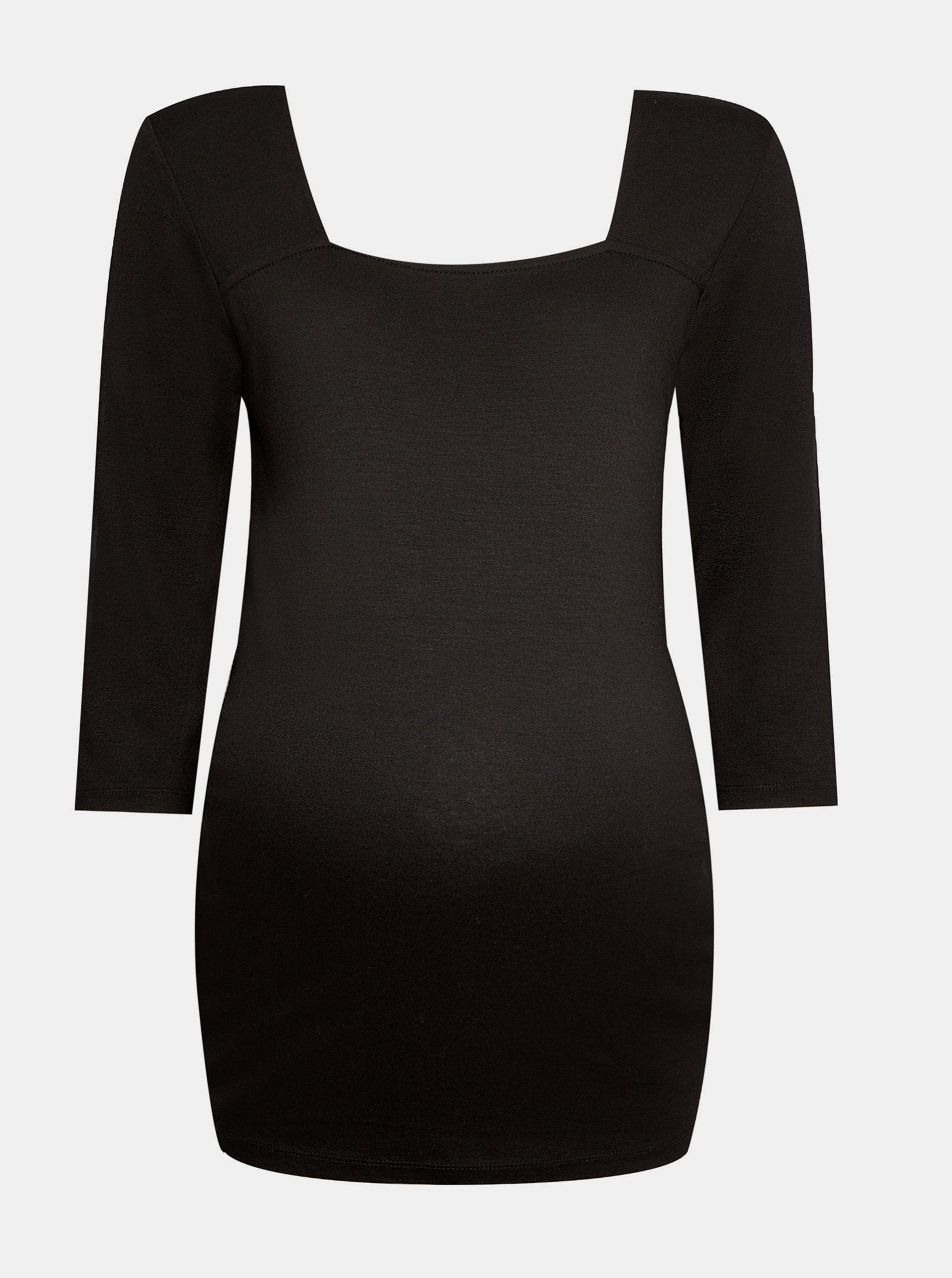 Levně Černé těhotenské tričko Dorothy Perkins Maternity
