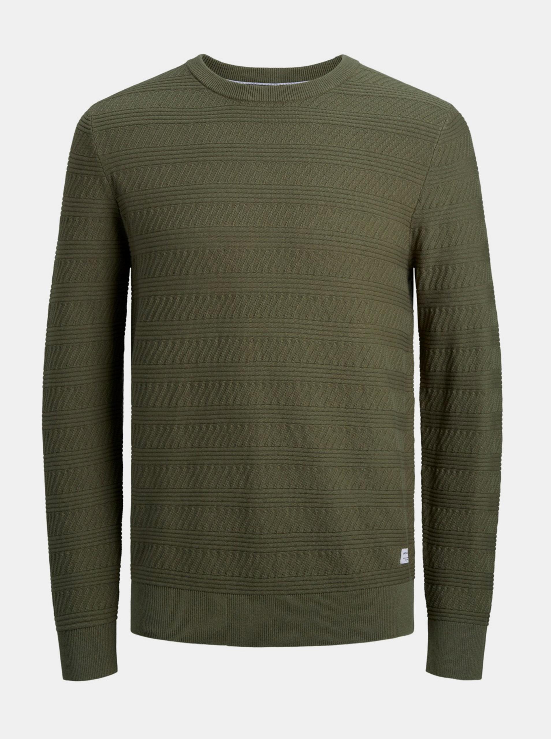 Khaki svetr Jack & Jones