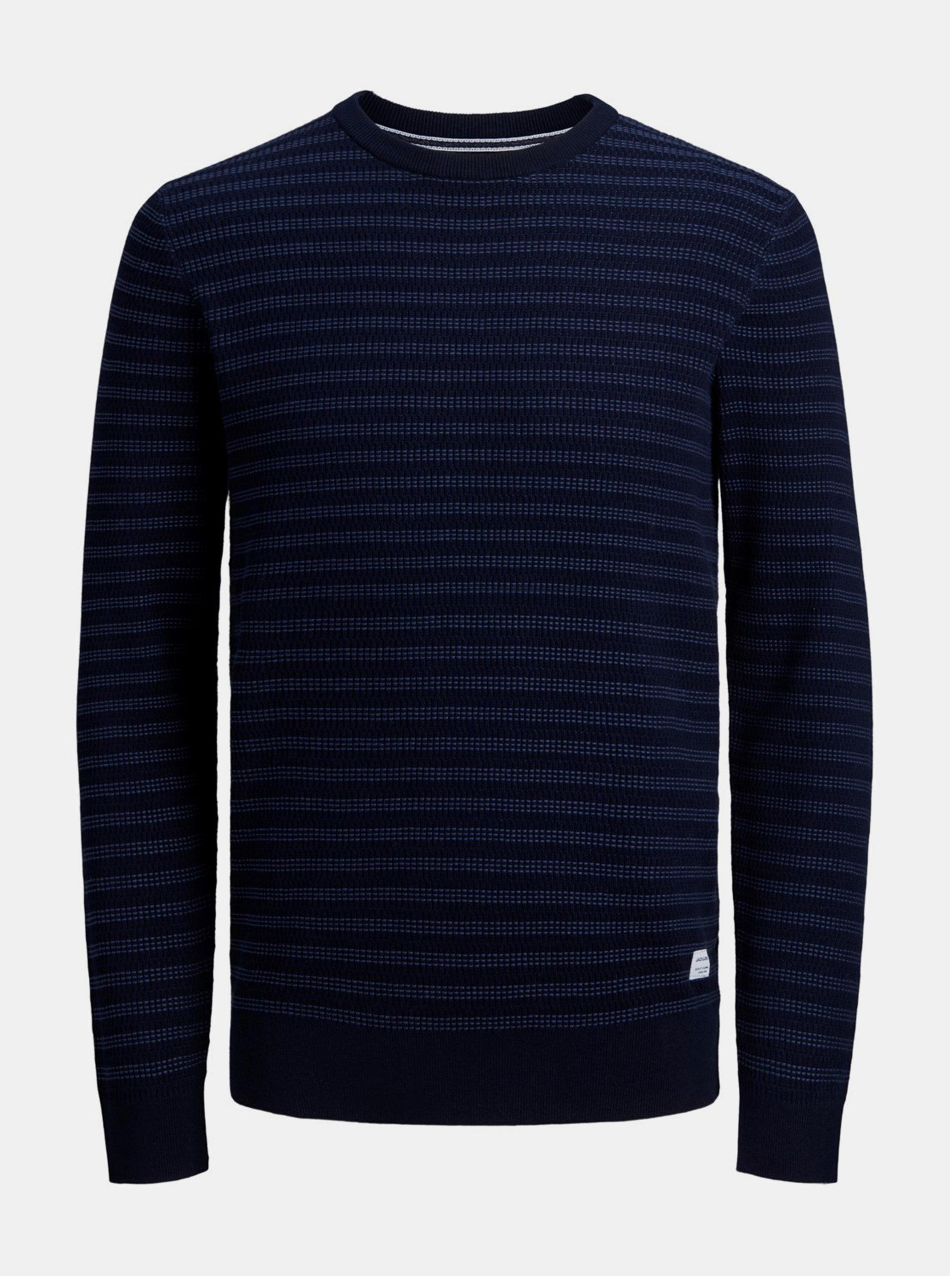 Tmavě modrý svetr Jack & Jones