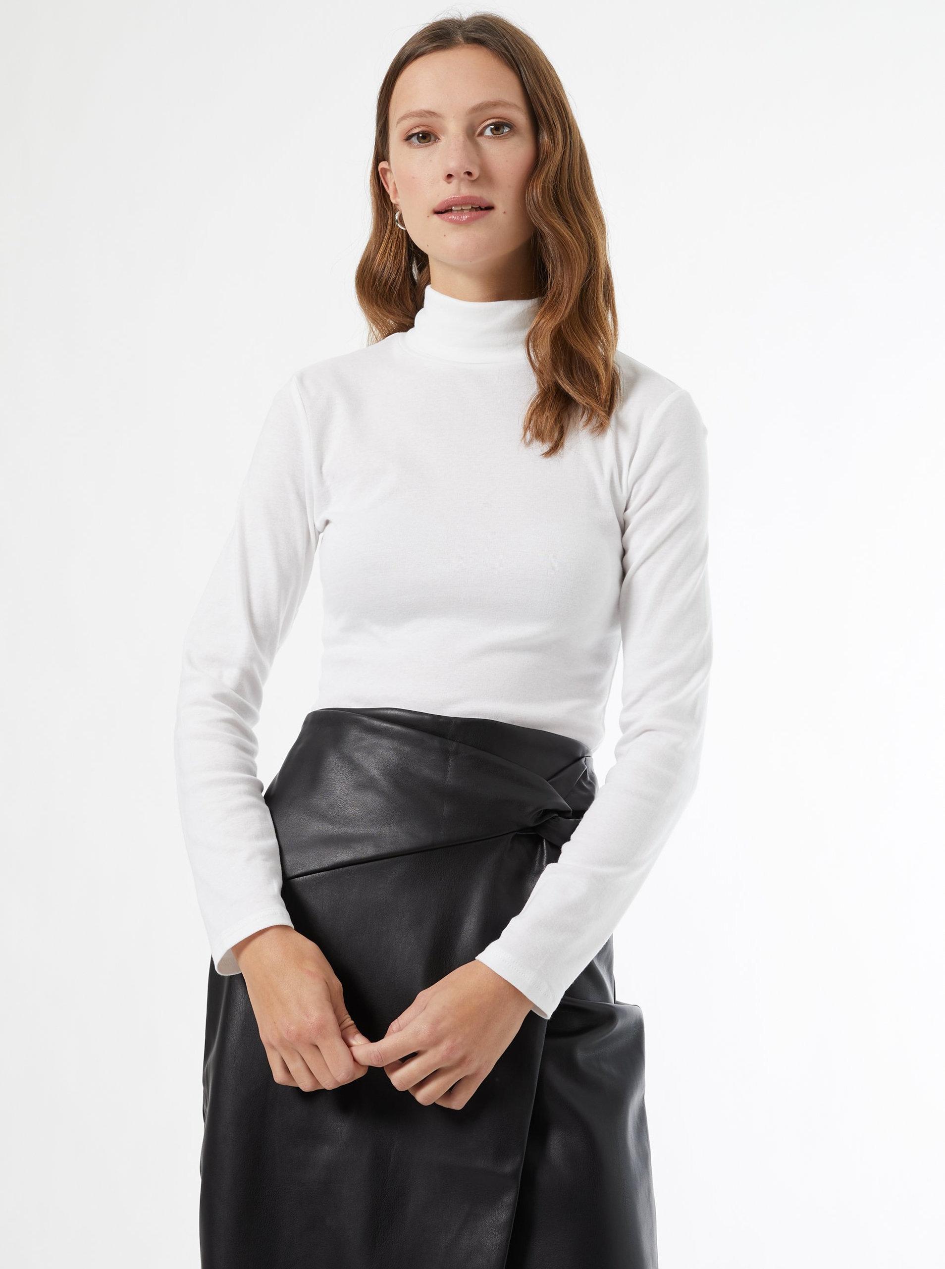 Bílé tričko s rolákem Dorothy Perkins