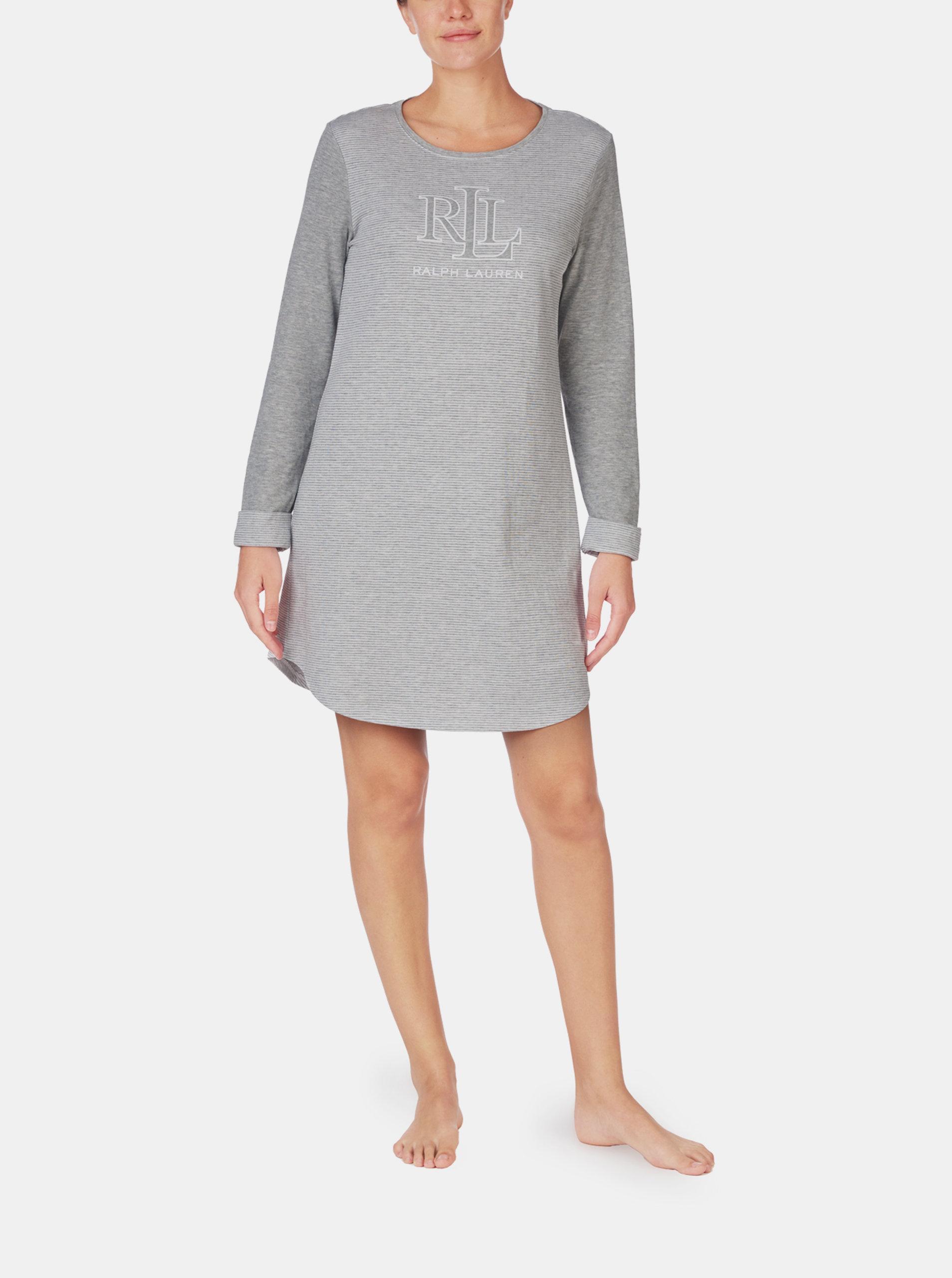 Šedá dámská noční košile Lauren Ralph Lauren