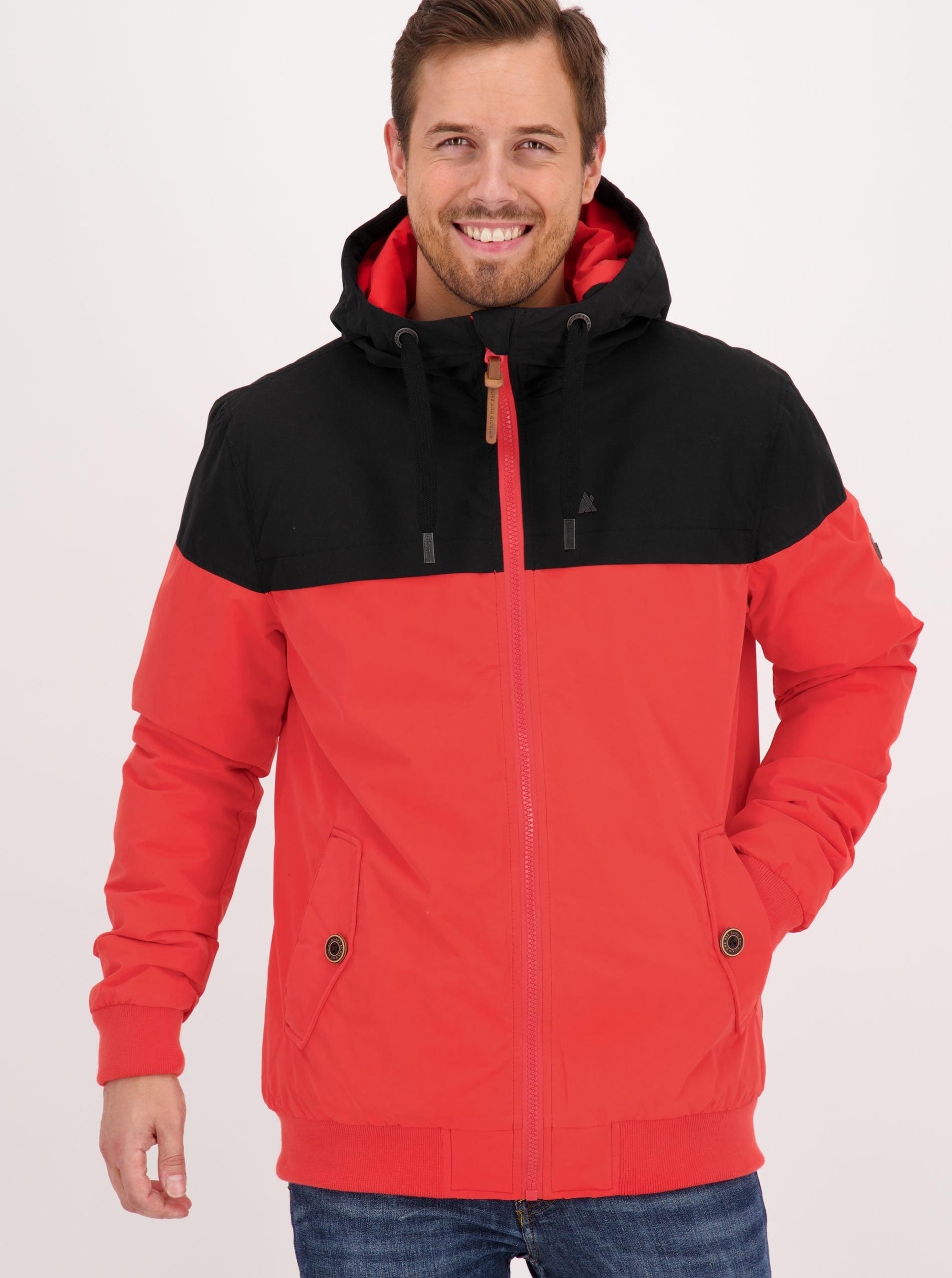 Červená pánská zimní bunda Alife and Kickin