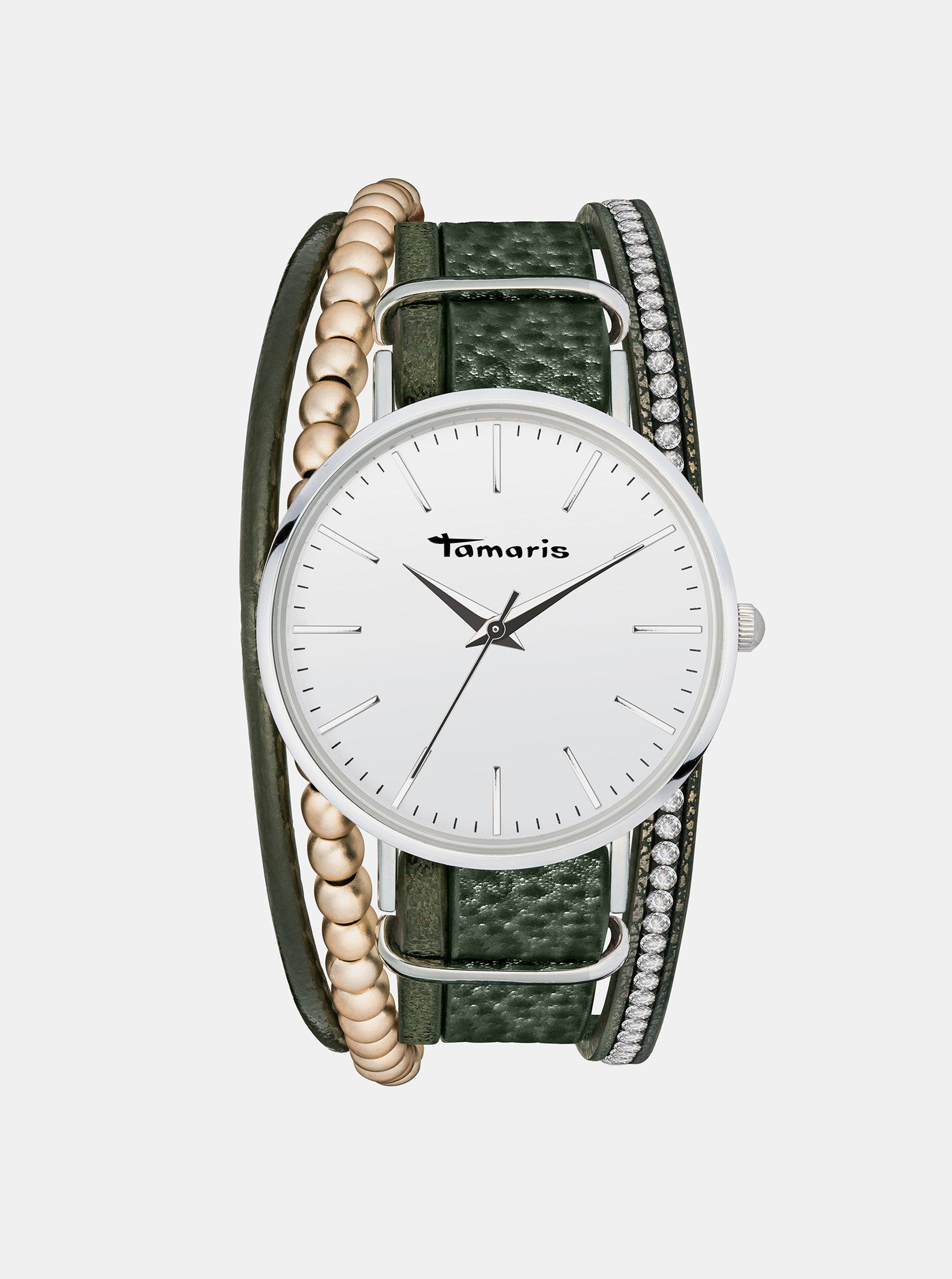 Dámské hodinky se zeleným páskem Tamaris