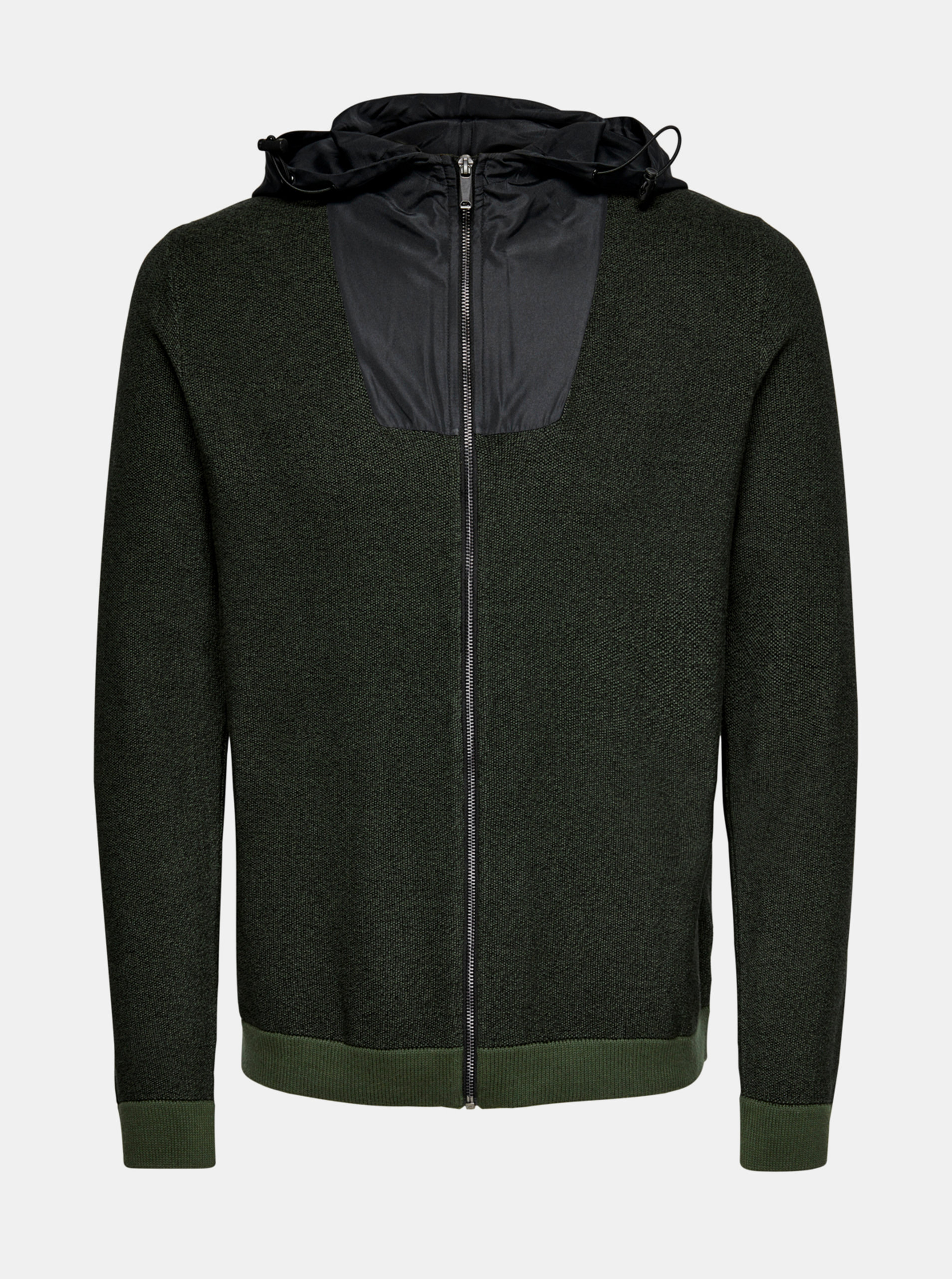 Zelený svetr na zip ONLY & SONS