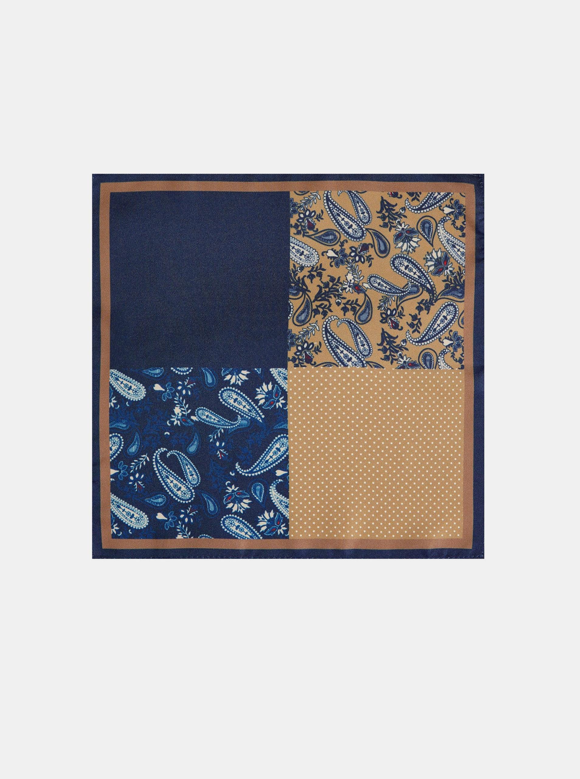 Fotografie Modrý vzorovaný kapesník do saka Burton Menswear London