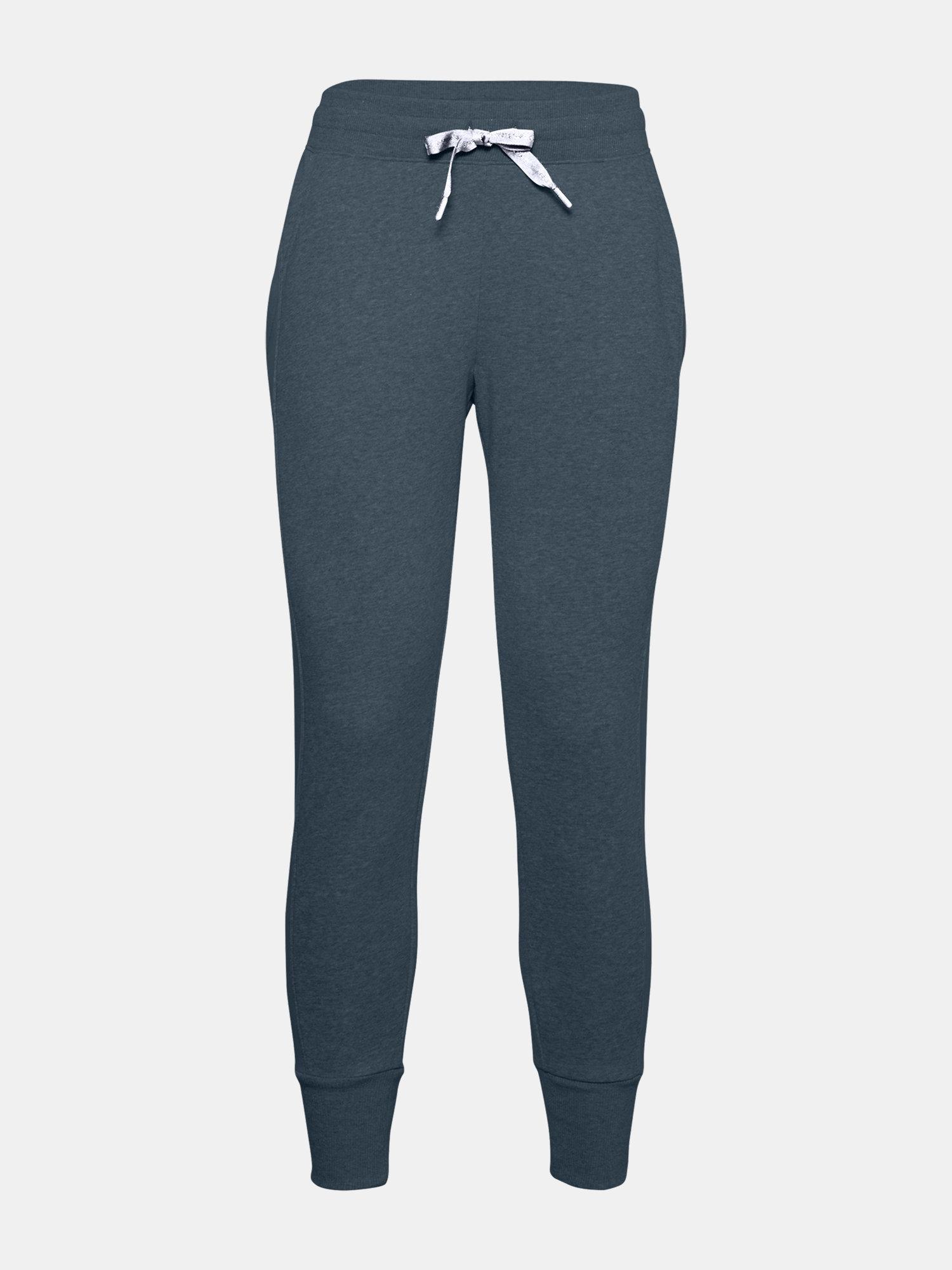 E-shop Modré kalhoty Under Armour UA Rival Fleece EMB Pant