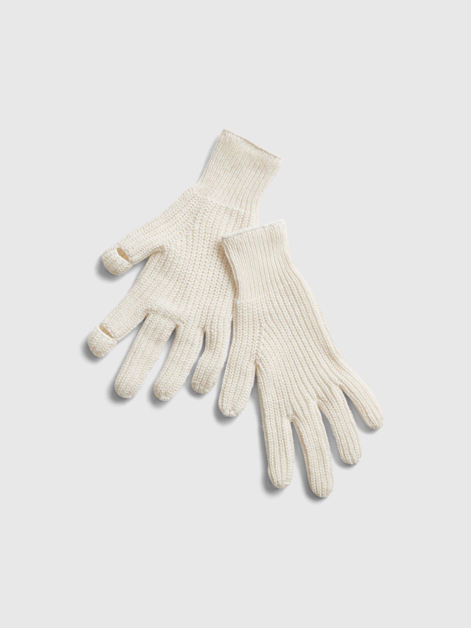 Smetanové dámské rukavice GAP