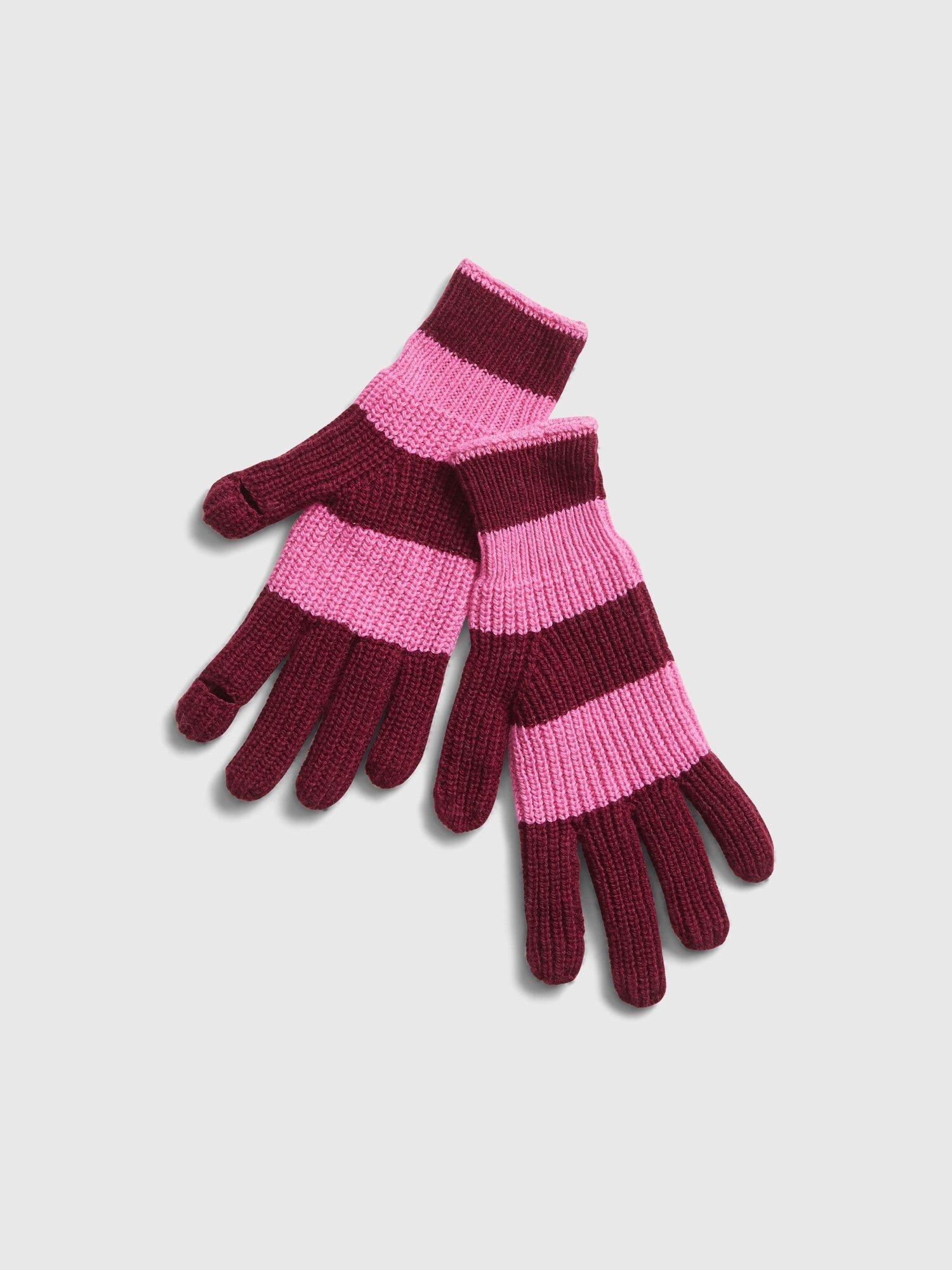 Růžové dámské rukavice GAP