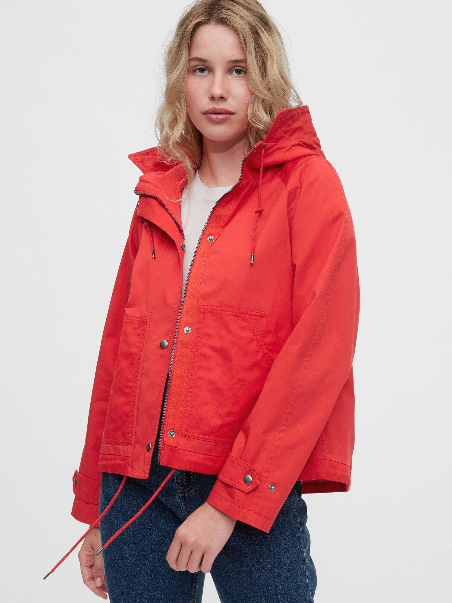 Červená dámská bunda GAP