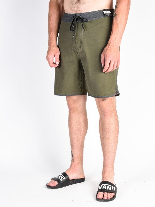 E-shop Rip Curl LAYDAY EASY PEASY 20 dark olive pánské kraťasové plavky - zelená