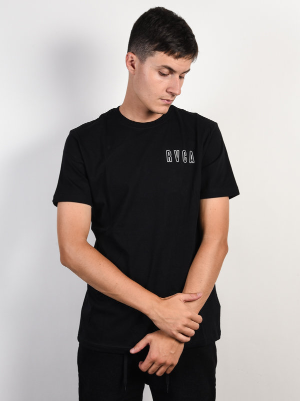 E-shop RVCA SERPENT CURVED black pánské triko s krátkým rukávem - černá