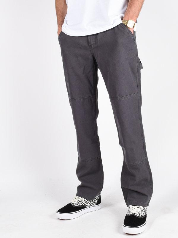 Vans HARDWARE DOUBLE KNEE ASPHALT plátěné kalhoty pánské - šedá